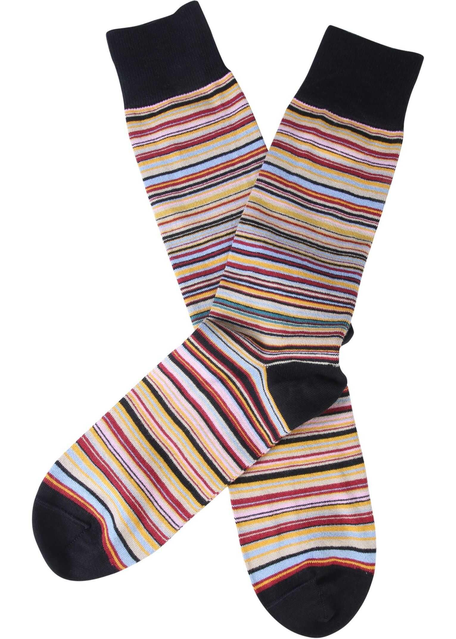 Paul Smith Striped Socks MULTICOLOUR imagine