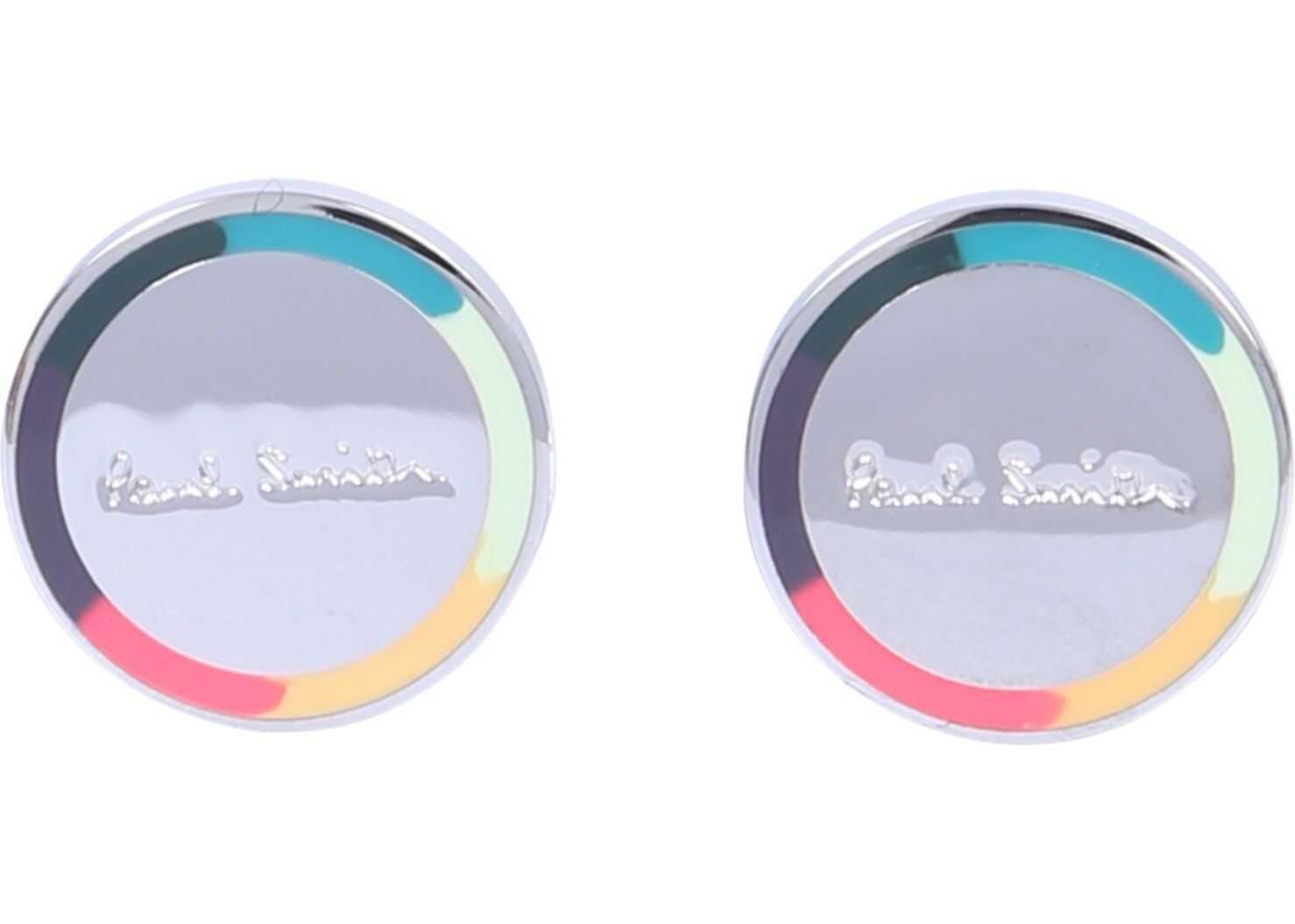 Paul Smith Circular Cufflinks With Logo SILVER