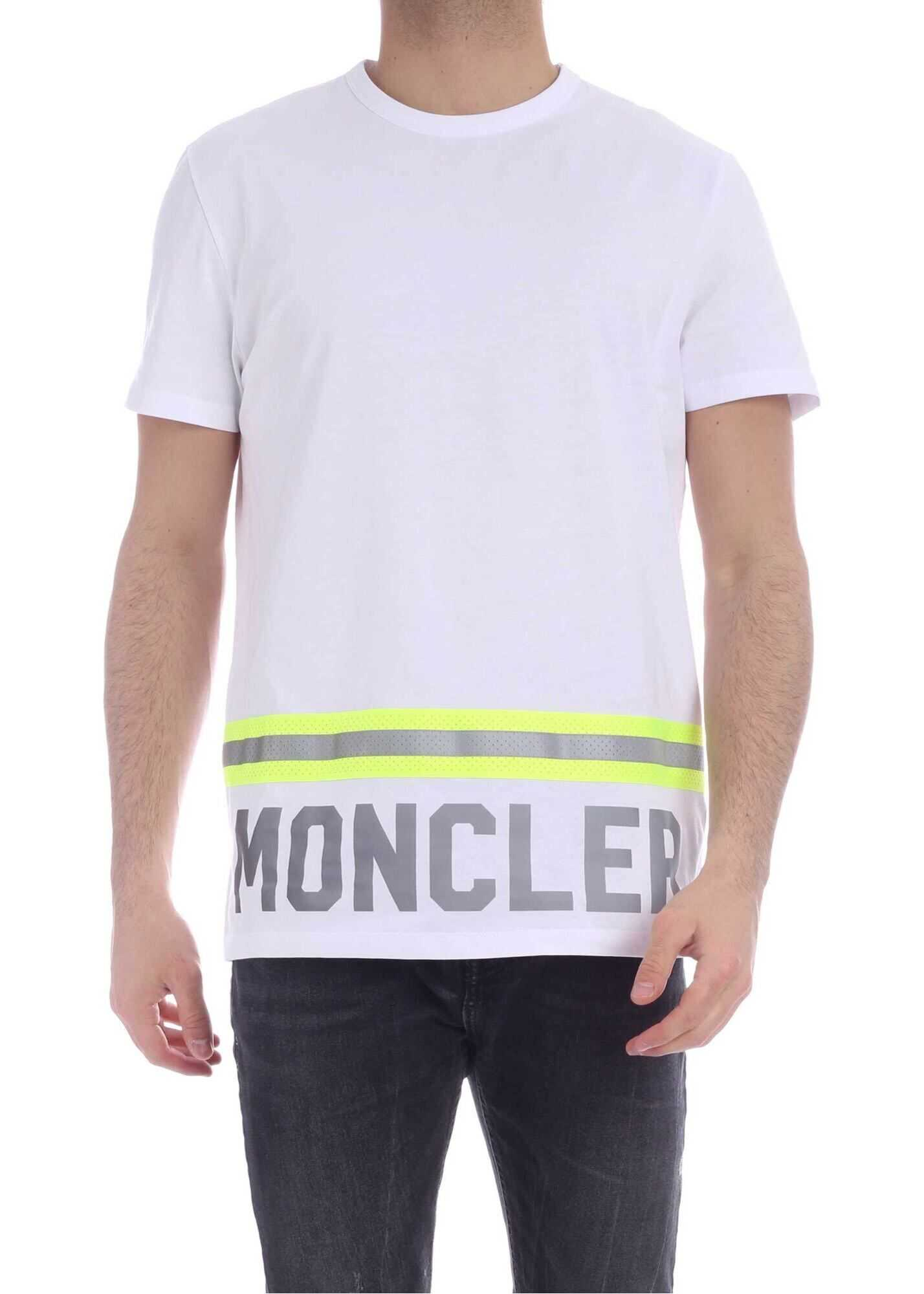 Moncler Fluorescent And Reflective Details T-Shirt In White White