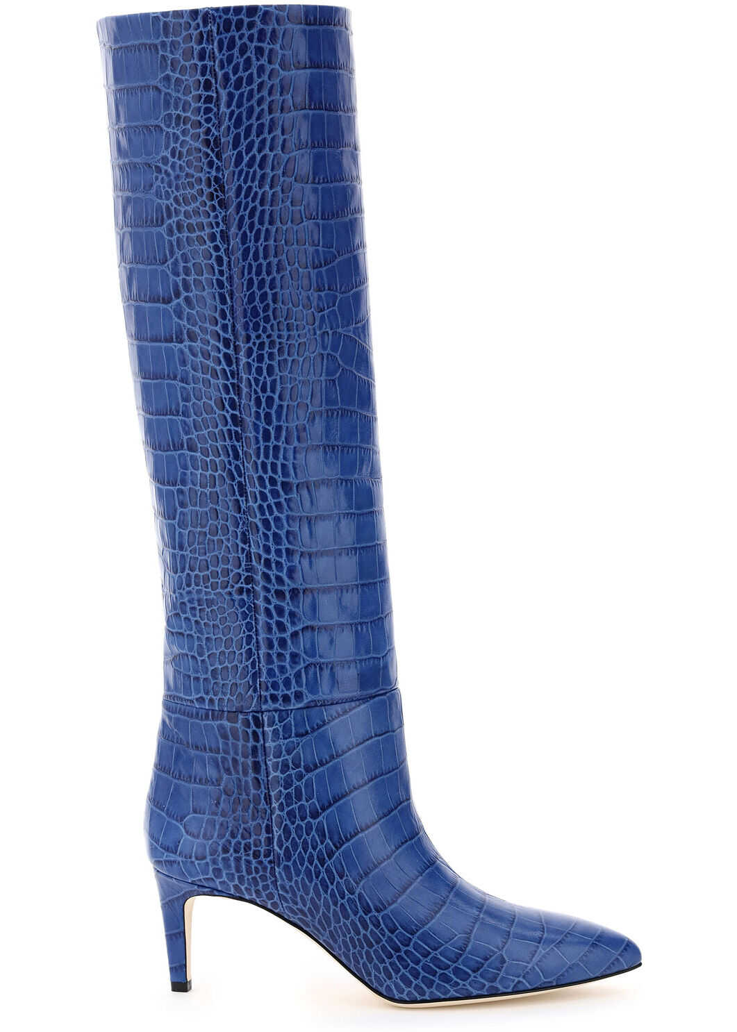 Paris Texas Crocodile-Embossed Boots PX503 XCAG2 BLUETTE imagine b-mall.ro