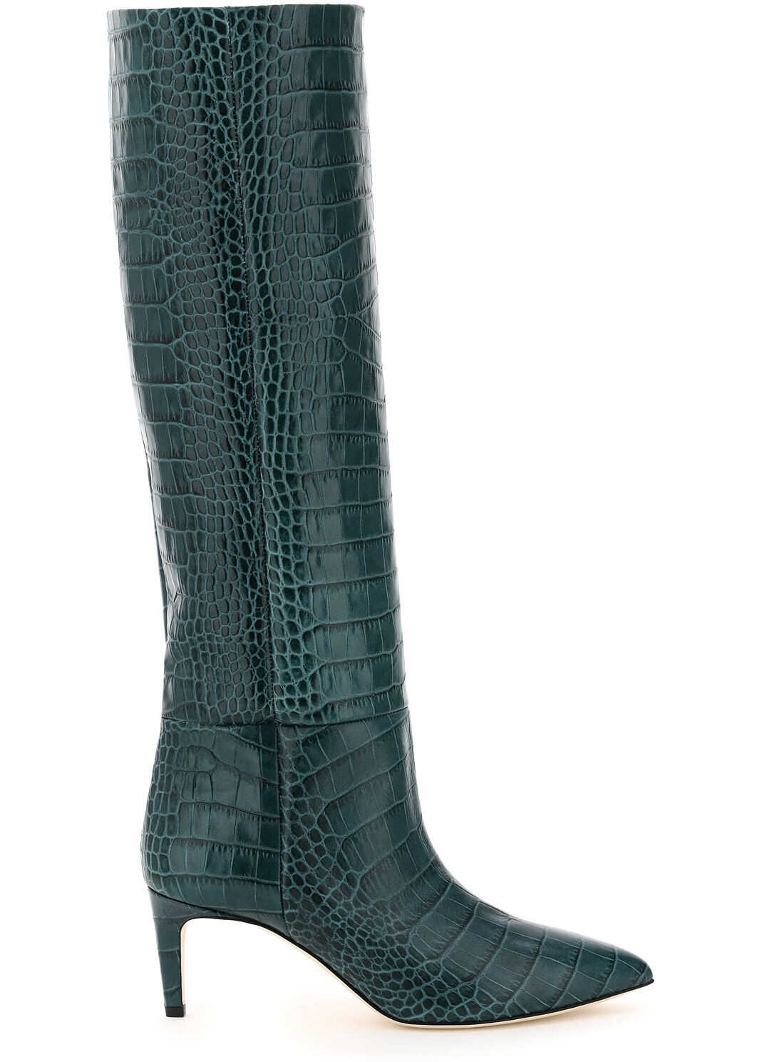 Paris Texas Crocodile-Embossed Boots PX503 XCAG2 VERDE imagine b-mall.ro