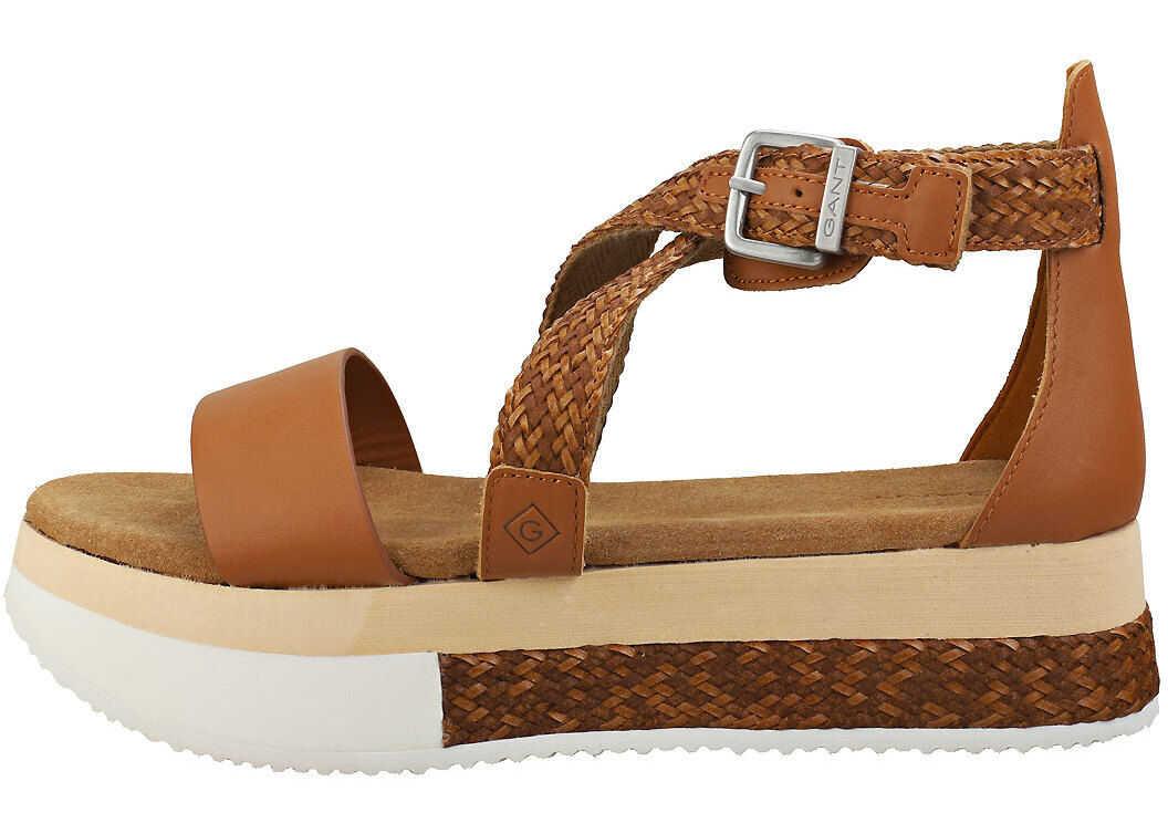GANT Sant Ana Flatform Sandals In Cognac* Brown