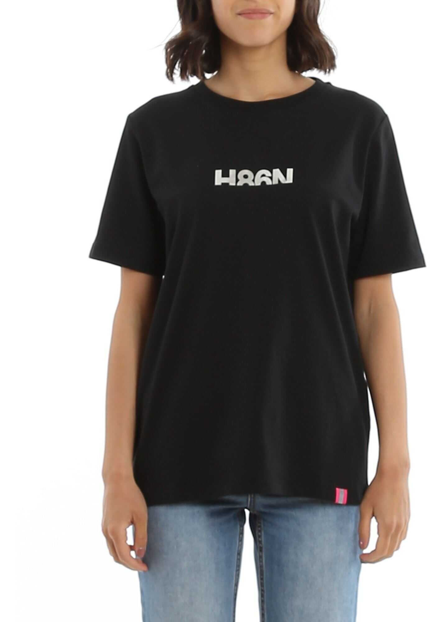 Hogan H86N Cotton T-Shirt In Black Black