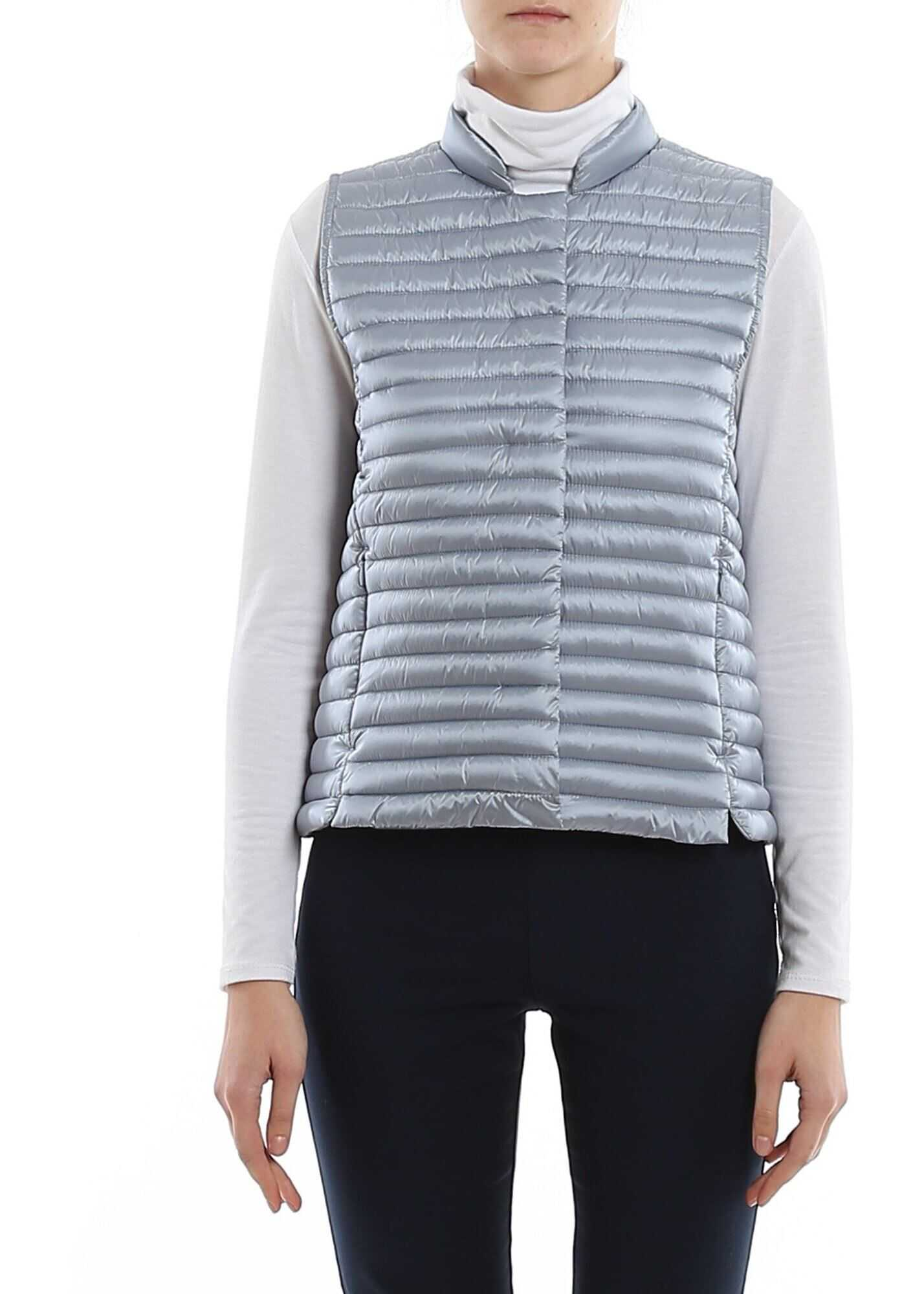 Save the Duck Water Repellent Padded Waistcoat In Light Blue Light Blue