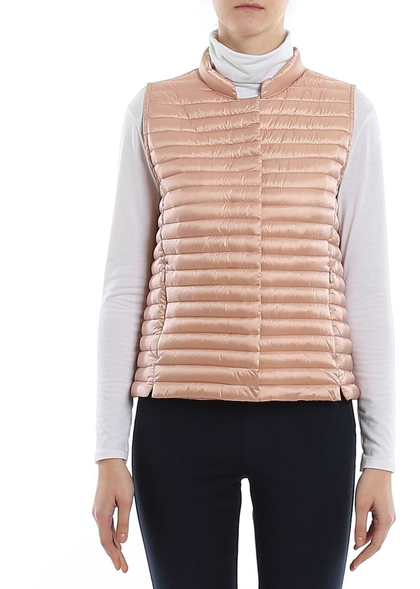 Save the Duck Water Repellent Padded Waistcoat In Pink Pink