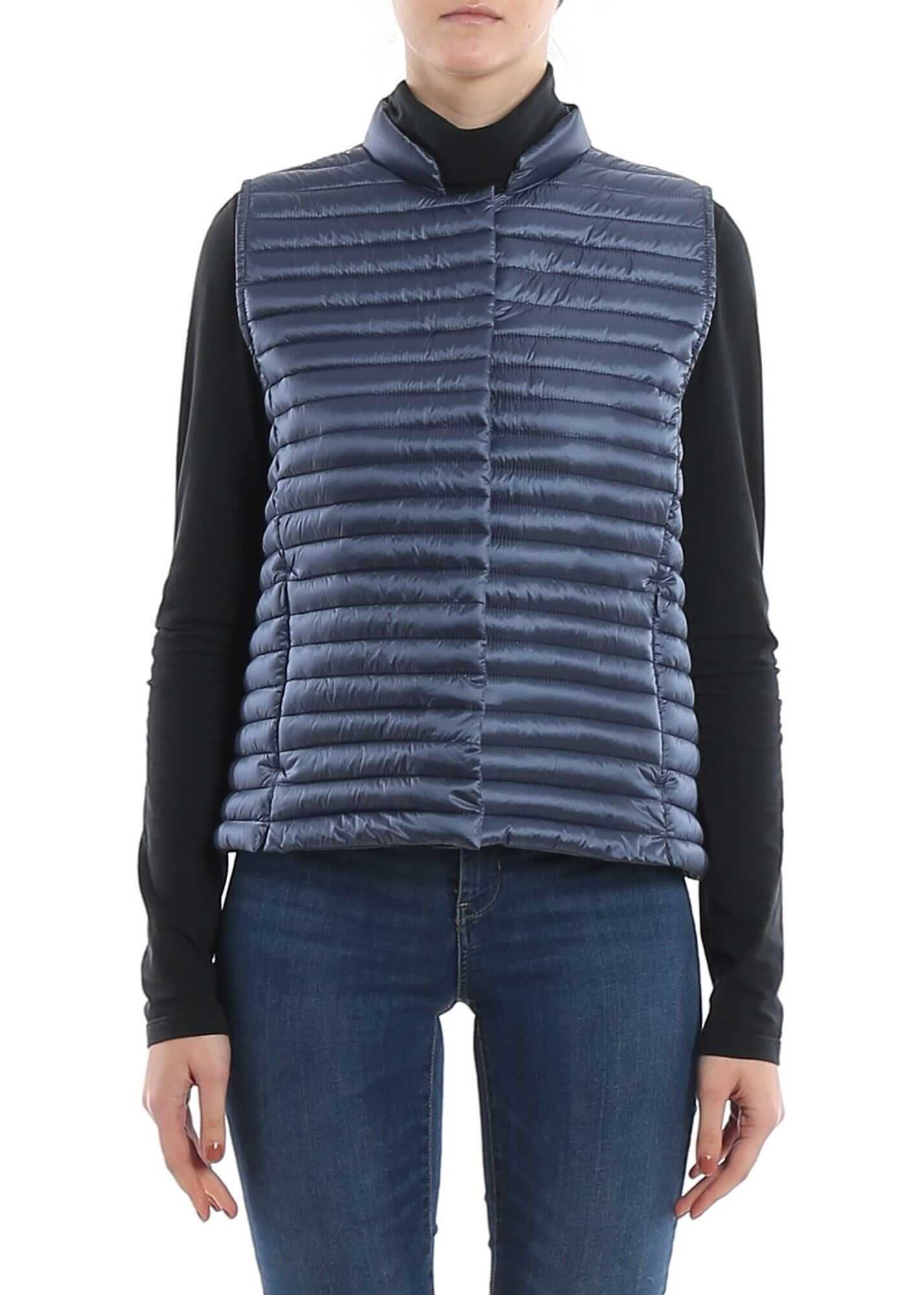 Save the Duck Padded Nylon Waistcoat In Blue Blue