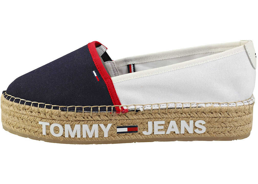 Tommy Jeans Surplus Espadrille Shoes In White Navy Red* White