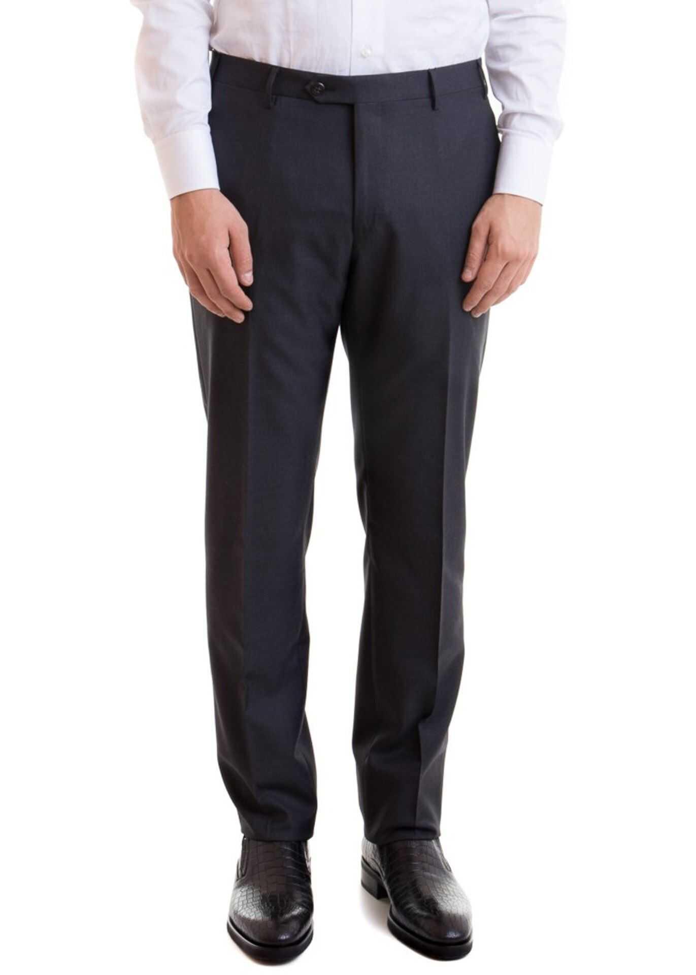 CORNELIANI Wool Pants In Grey Grey imagine