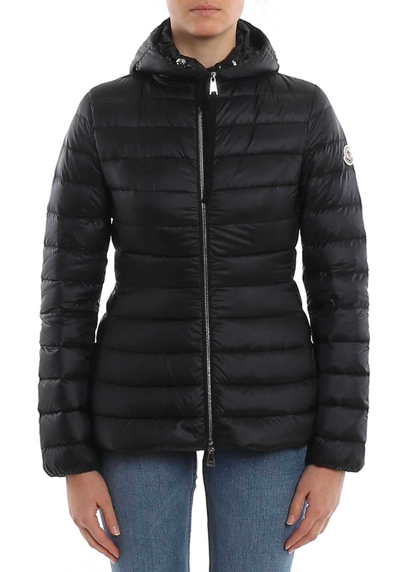 Moncler Amethyste Down Jacket In Black Black