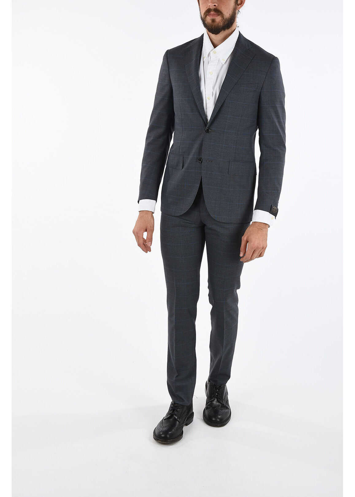 Virgin Wool Checked ACADEMY SOFT Suit