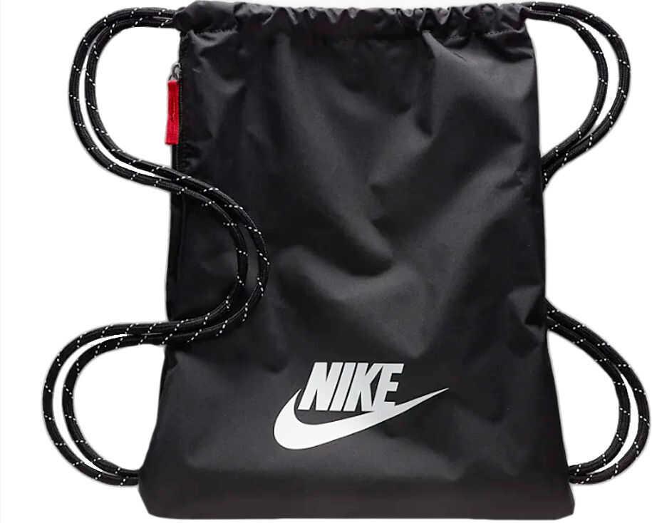 Nike Heritage Gymsack Black imagine b-mall.ro