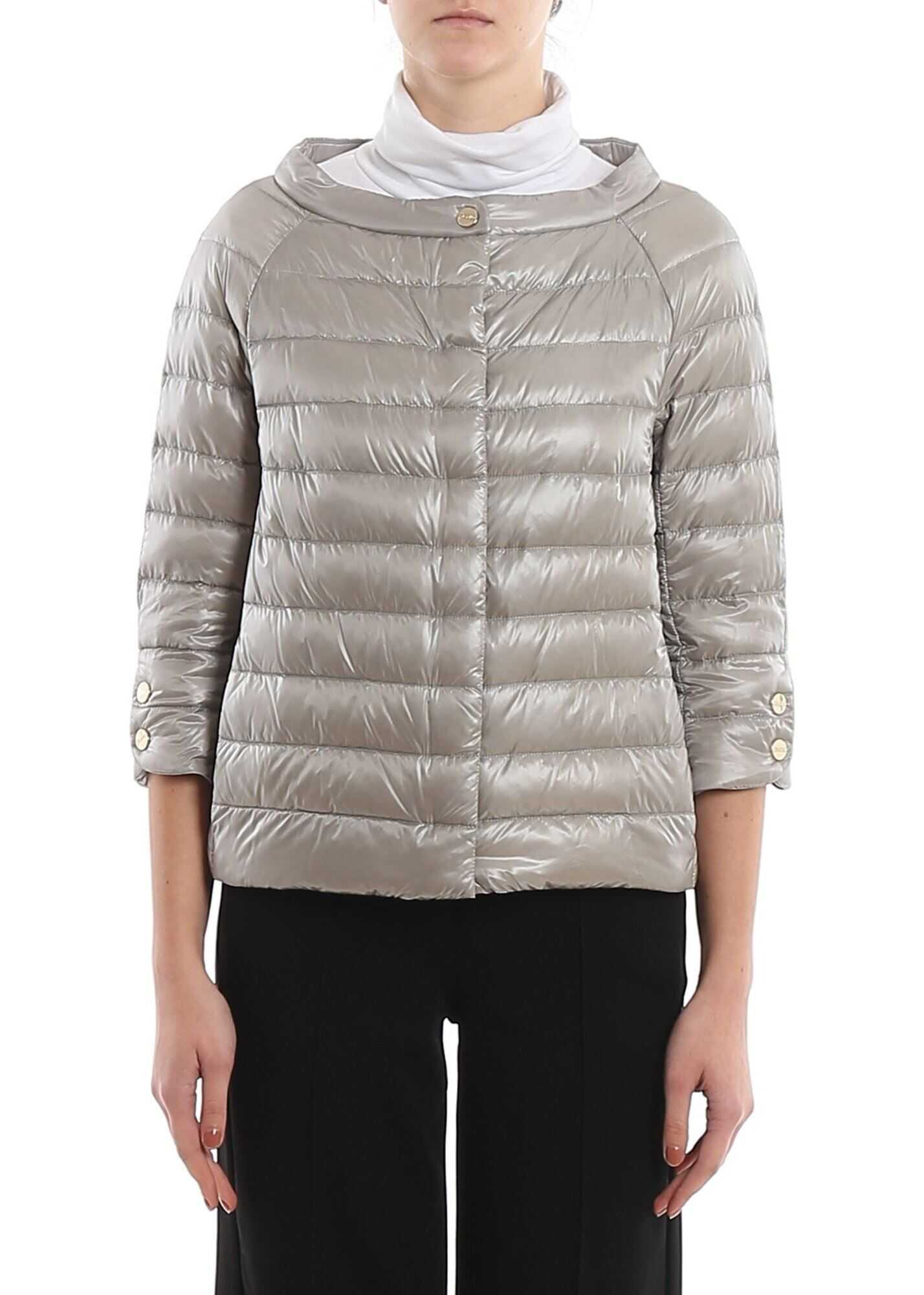 Herno Elsa Ultralight Down Jacket In Grey Grey