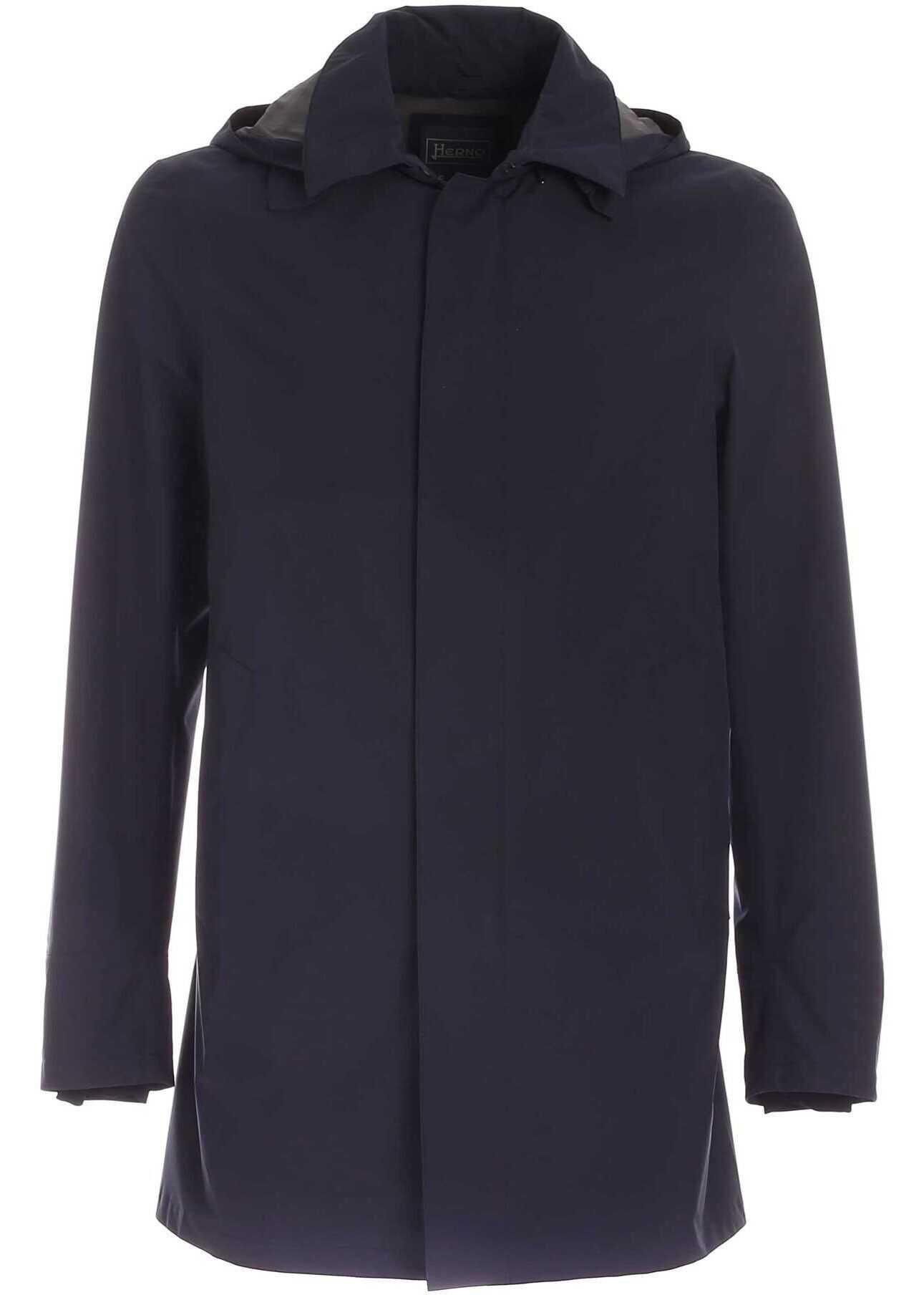 Herno Gore-Tex® Raincoat In Blue Blue imagine