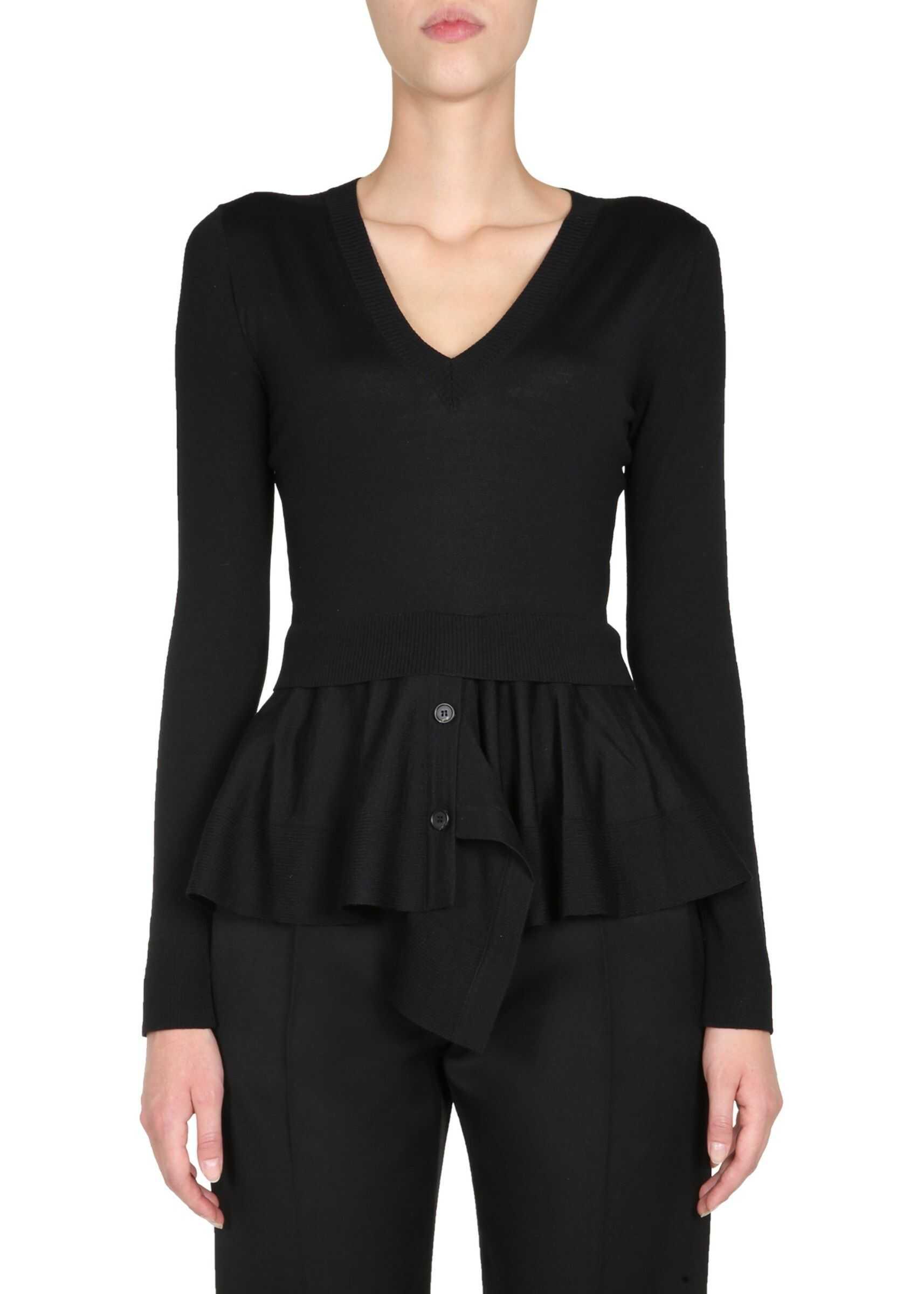 Alexander McQueen V-Neck Sweater BLACK