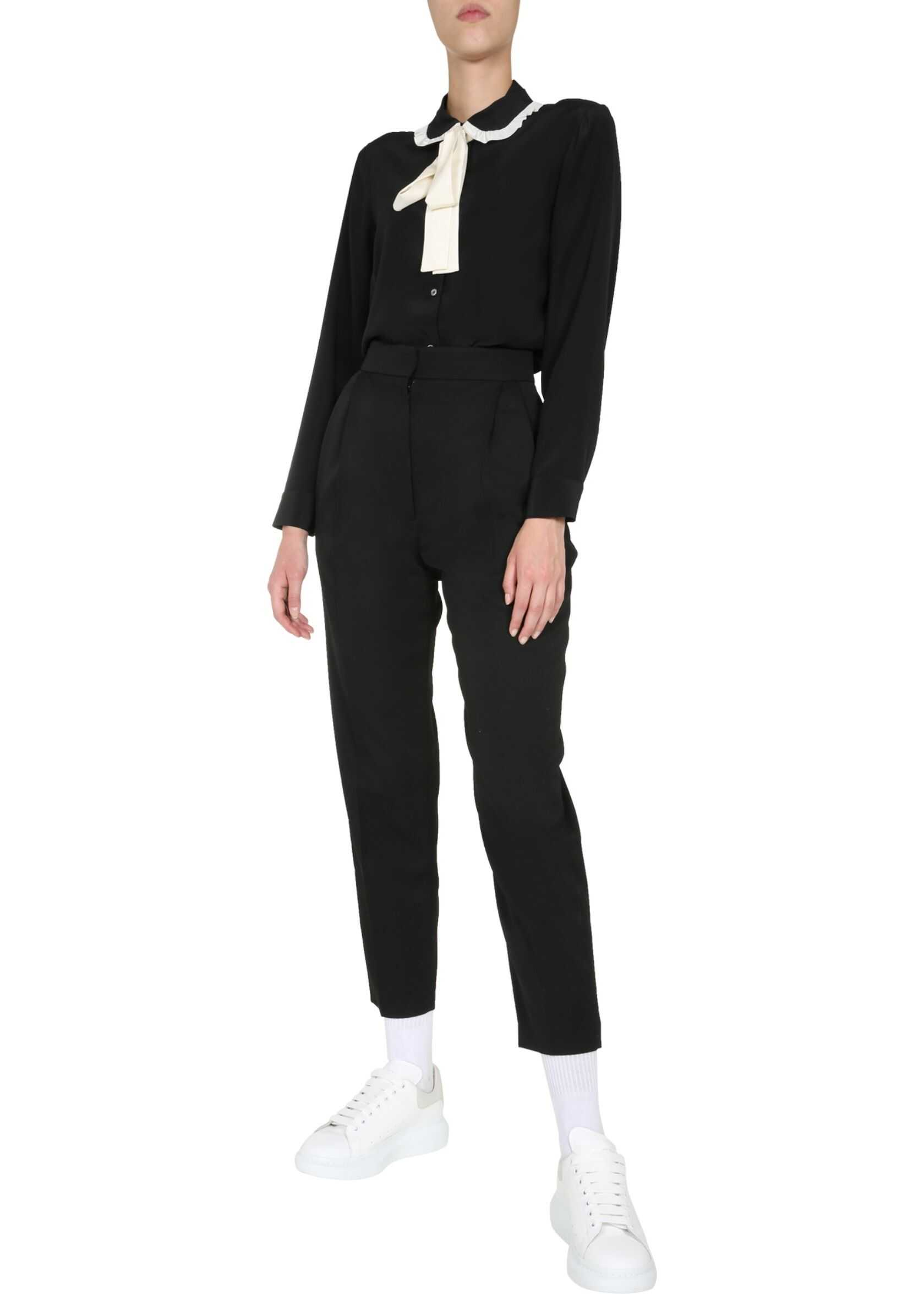 RED VALENTINO Blouse With Baby Collar BLACK