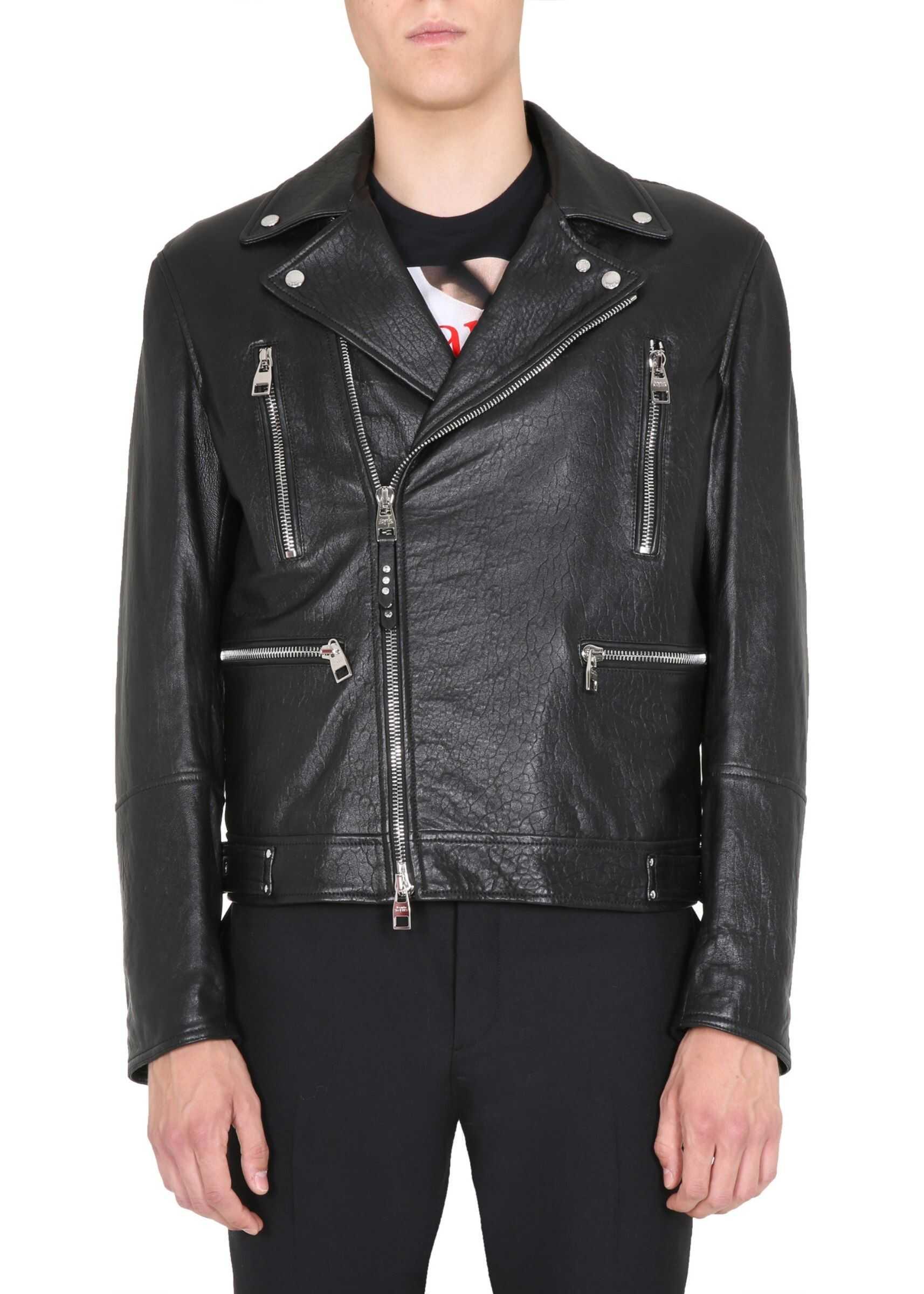 Alexander McQueen Biker Jacket BLACK imagine
