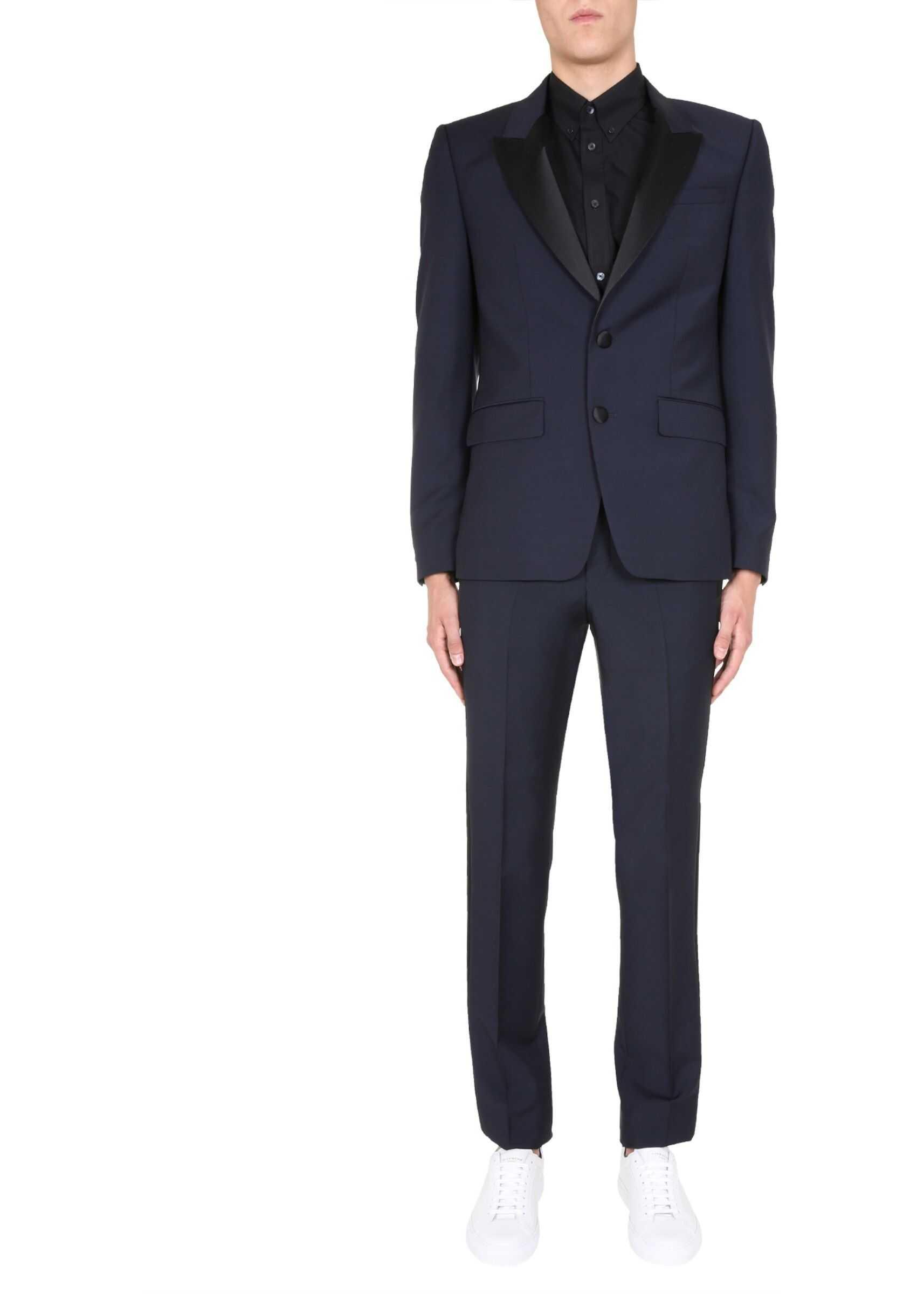 Givenchy Slim Fit Smoking Dress BLUE imagine
