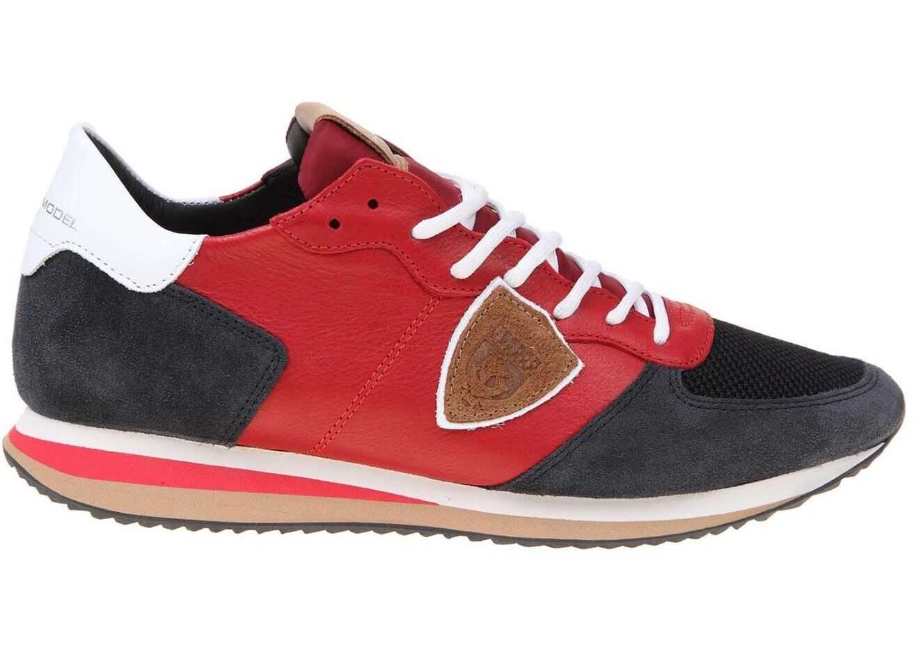Philippe Model Trpx Sneakers In Red And Blue Red