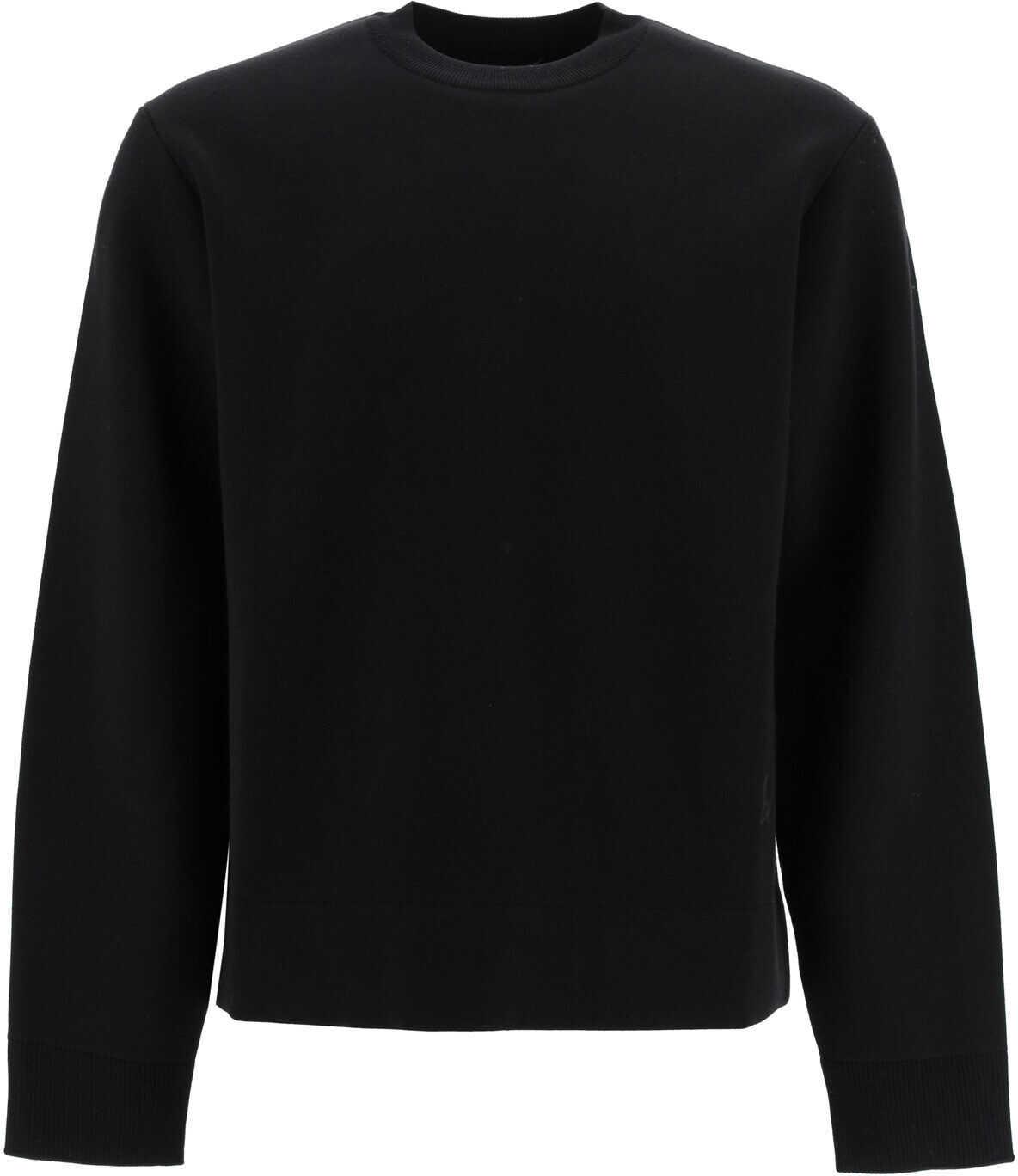 Bottega Veneta Double Crew-Neck Sweater NERO CHOCOLATE imagine