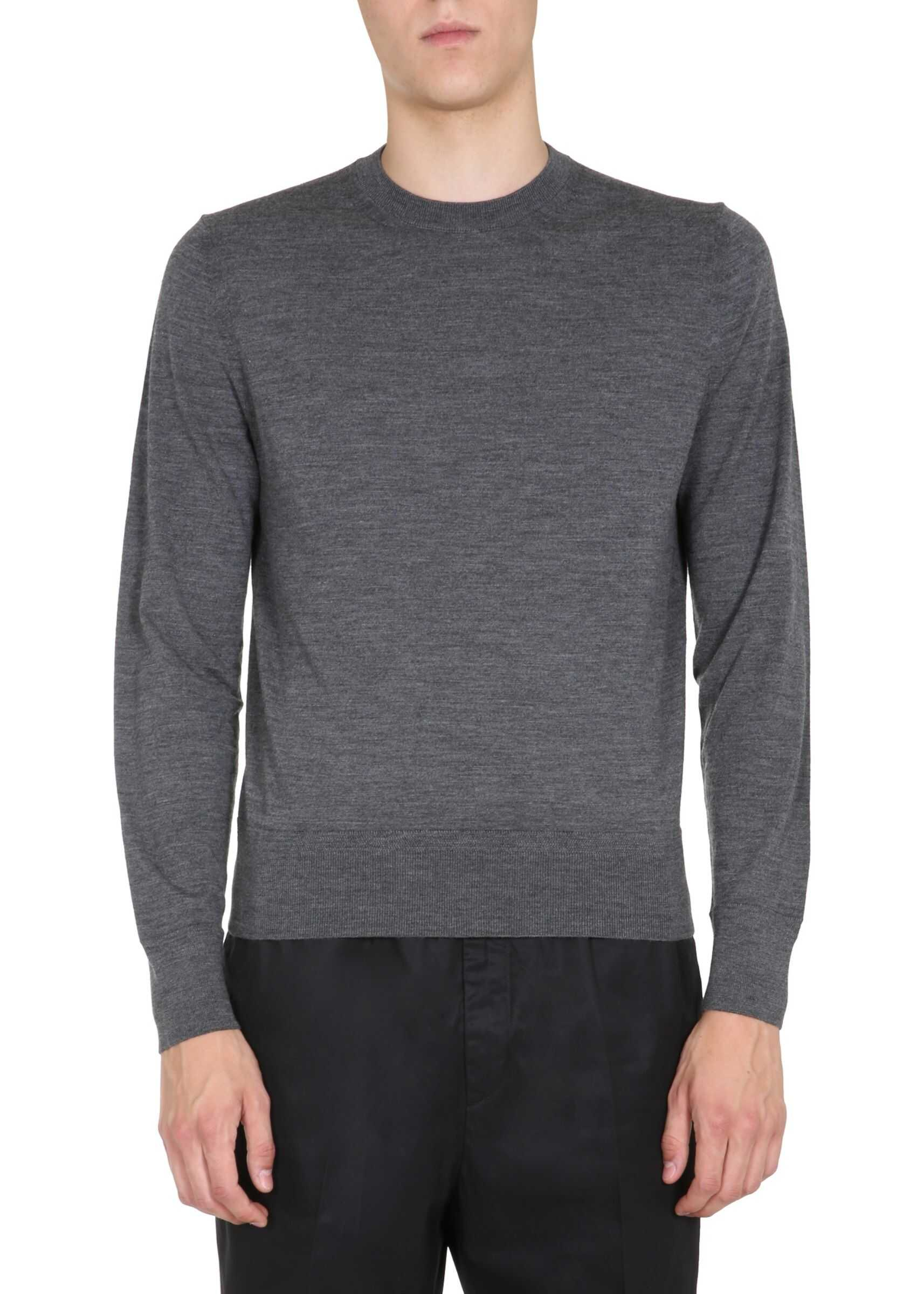 Tom Ford Crew Neck Sweater CHARCOAL imagine
