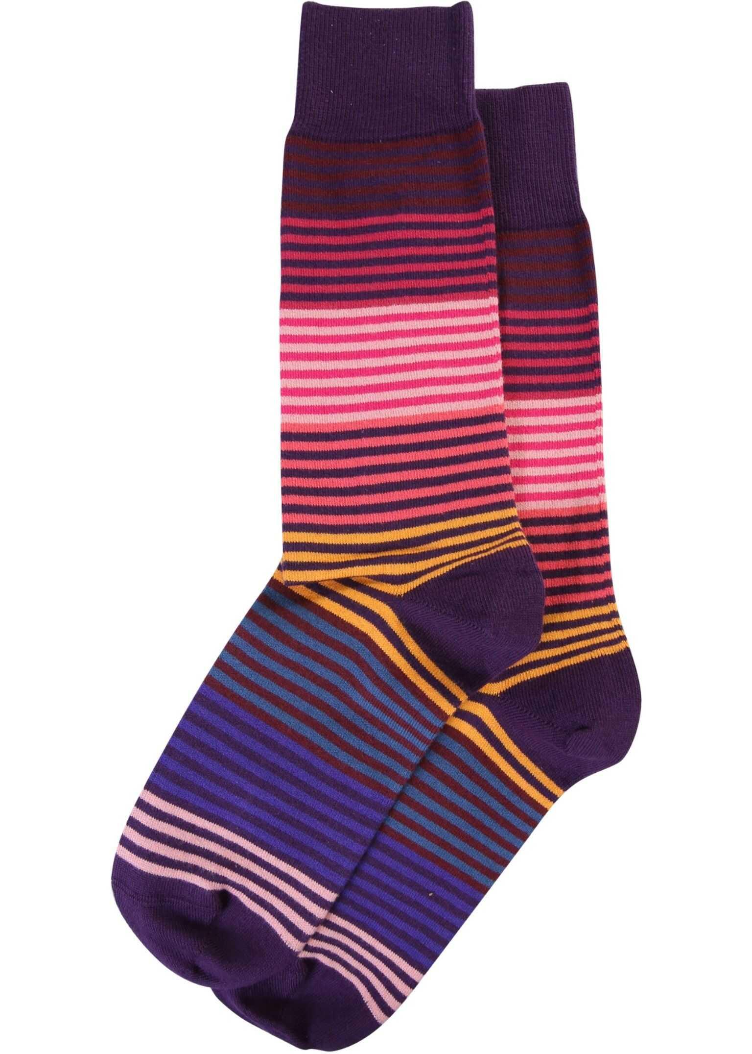 Paul Smith Striped Socks PURPLE imagine