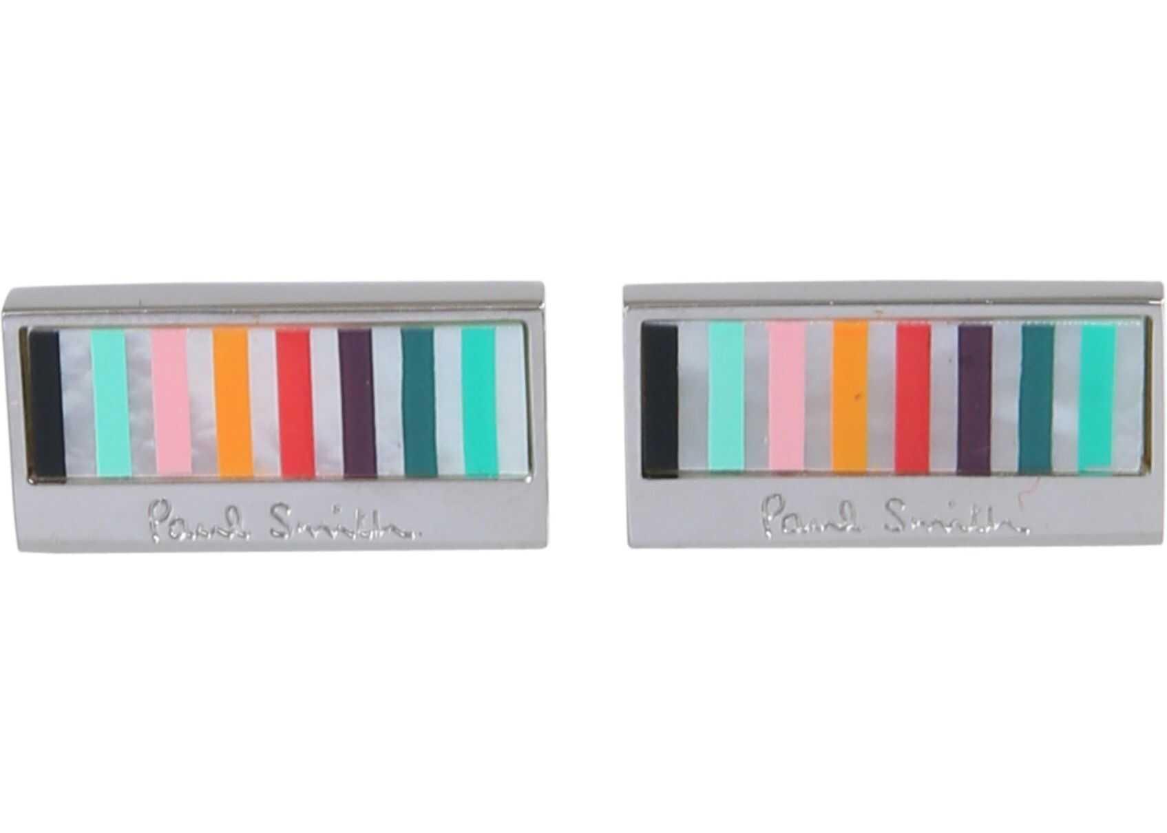 Paul Smith Multi-Striped Cufflinks SILVER