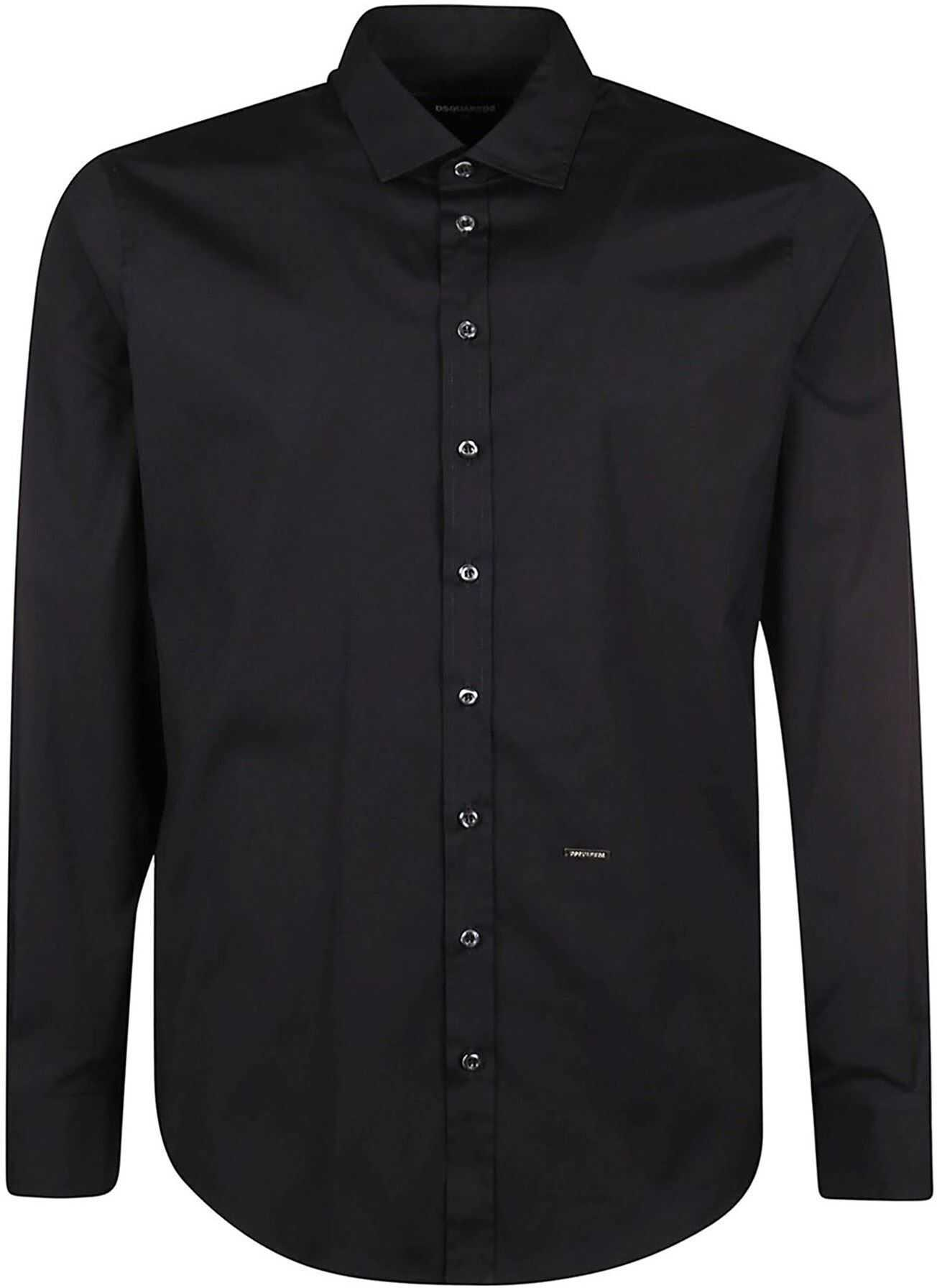DSQUARED2 Poplin Shirt In Black Black imagine