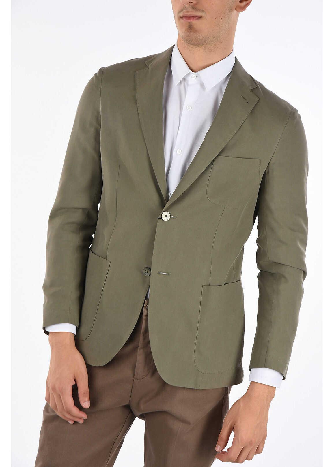 CORNELIANI ID silk IDENTITY 2-button blazer BEIGE imagine
