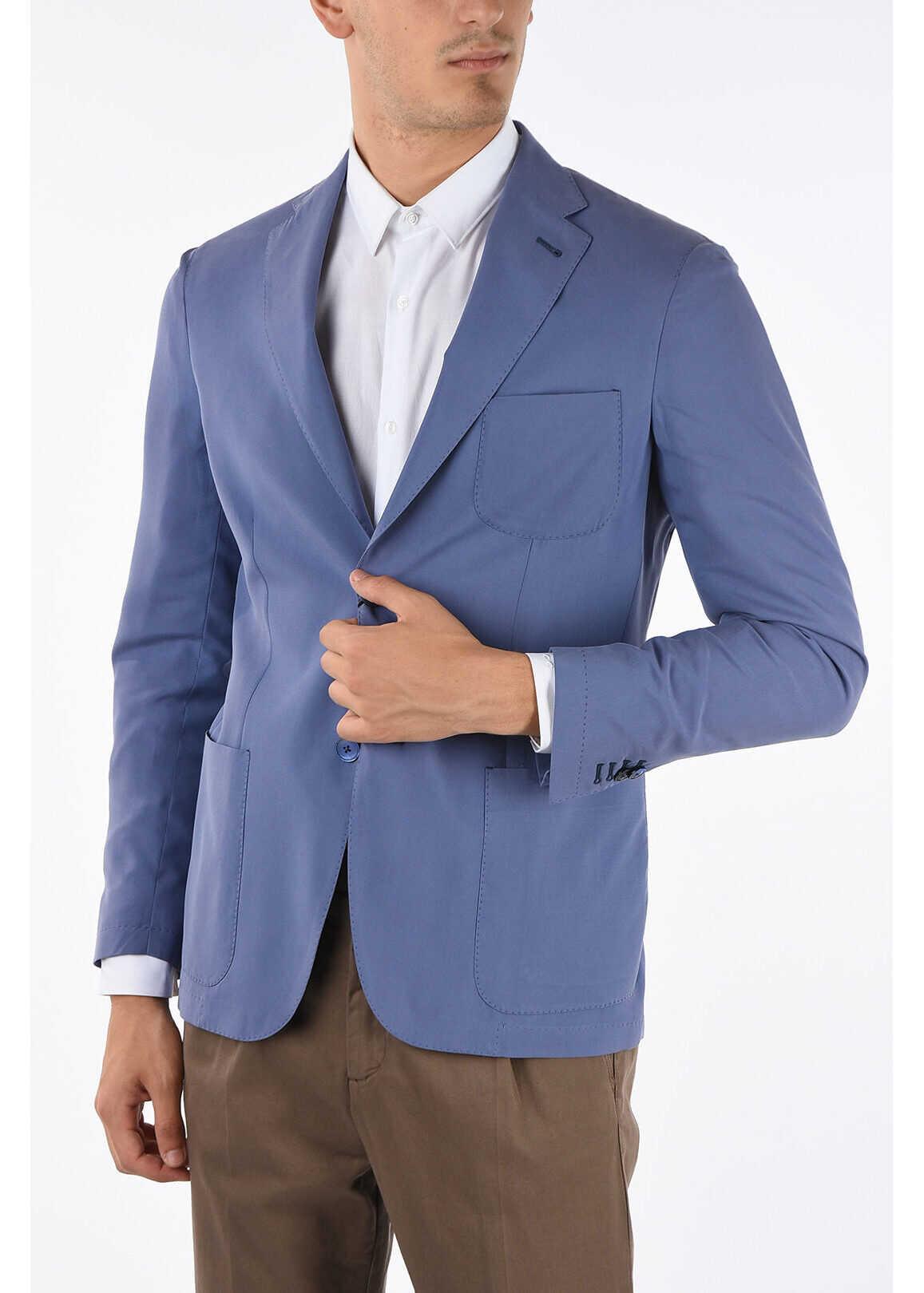 CORNELIANI ID silk IDENTITY 2-button blazer LIGHT BLUE imagine