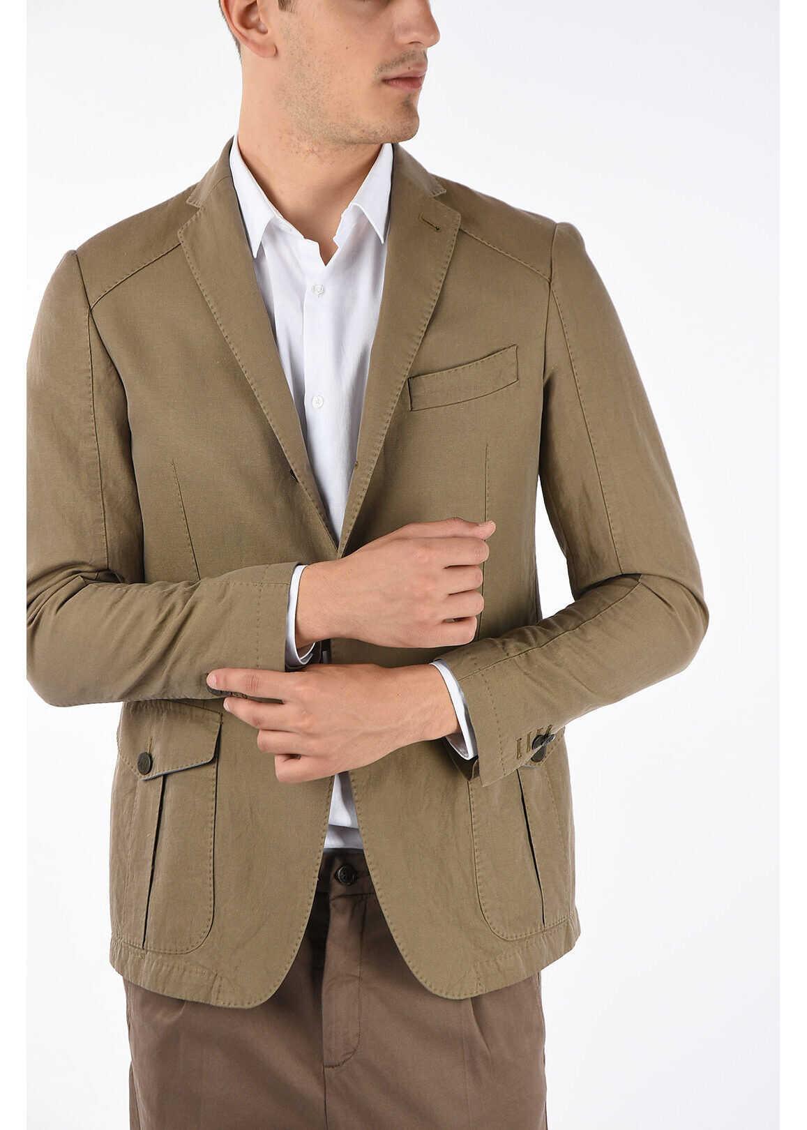 CORNELIANI DEEGAN flap pocket 3-button blazer BEIGE imagine