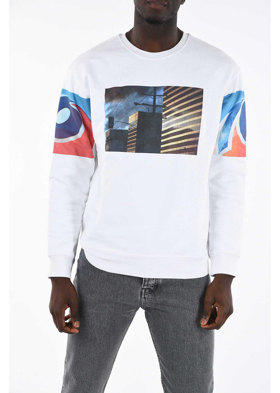 Calvin Klein EST.1978 JEANS Sweatshirt with Print WHITE imagine