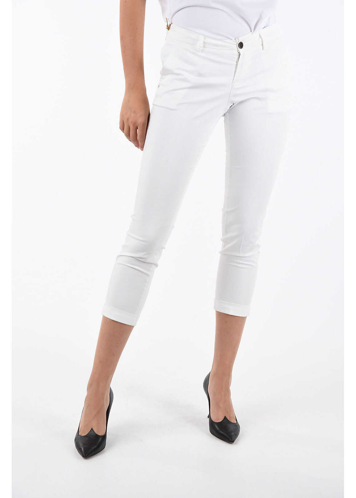 Fay Capri Pants WHITE