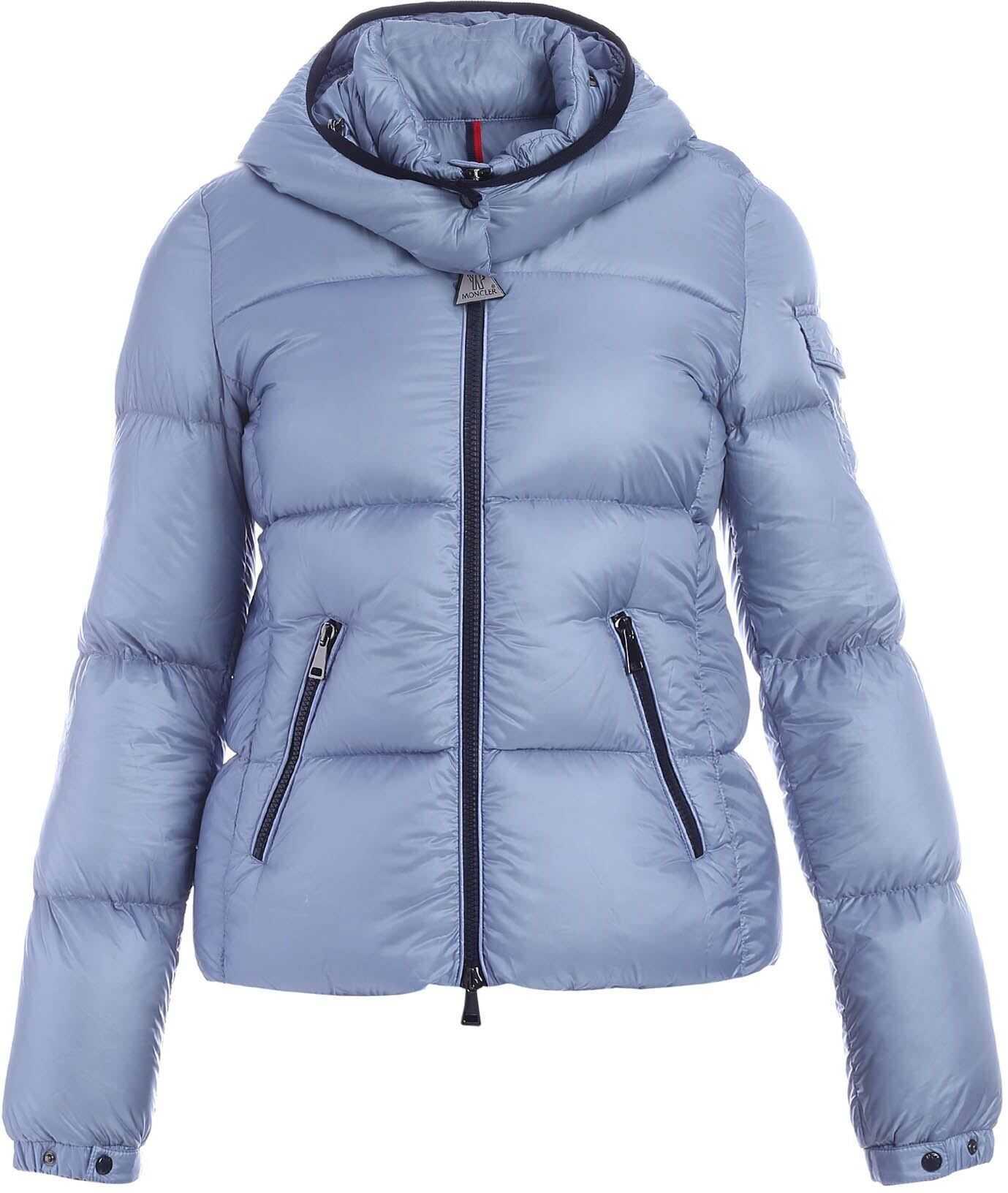 Moncler Fourmi Down Jacket In Pale Blue Color Light Blue