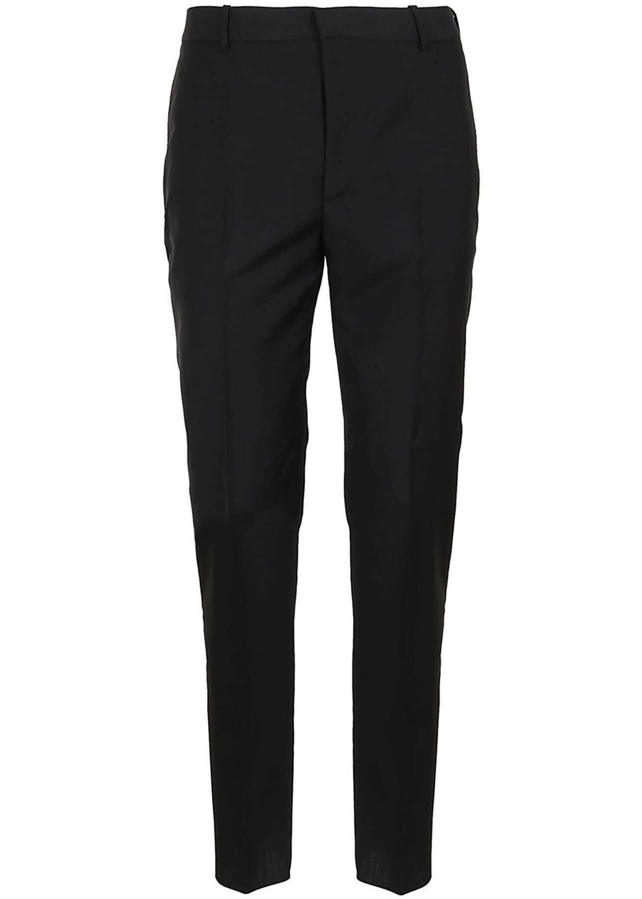 Alexander McQueen Wool Blend Pants In Black Black imagine