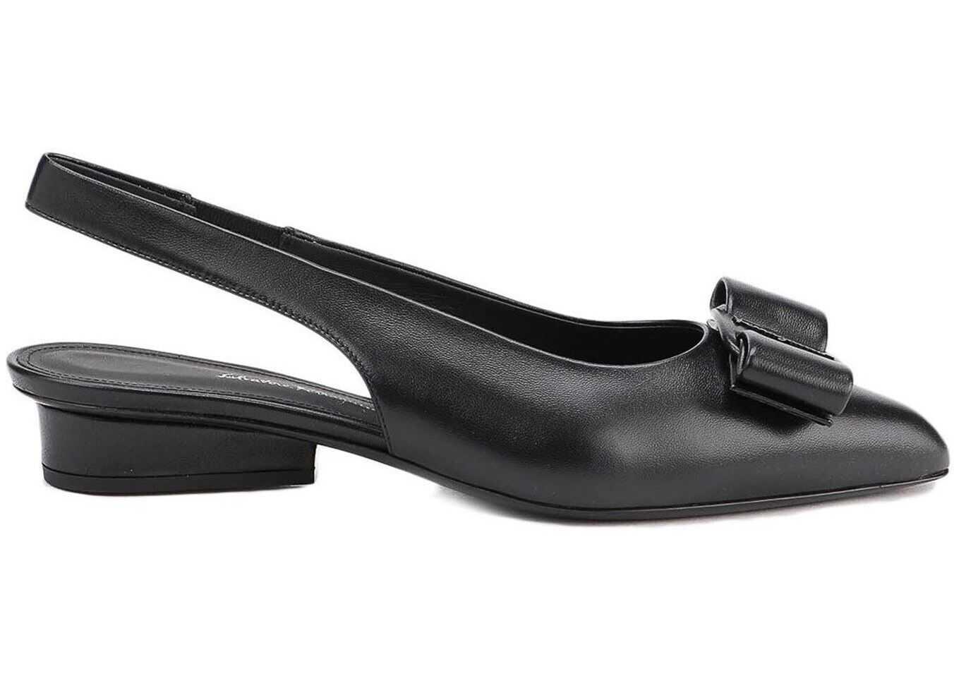 Viva Nappa Slingback Sandals In Black
