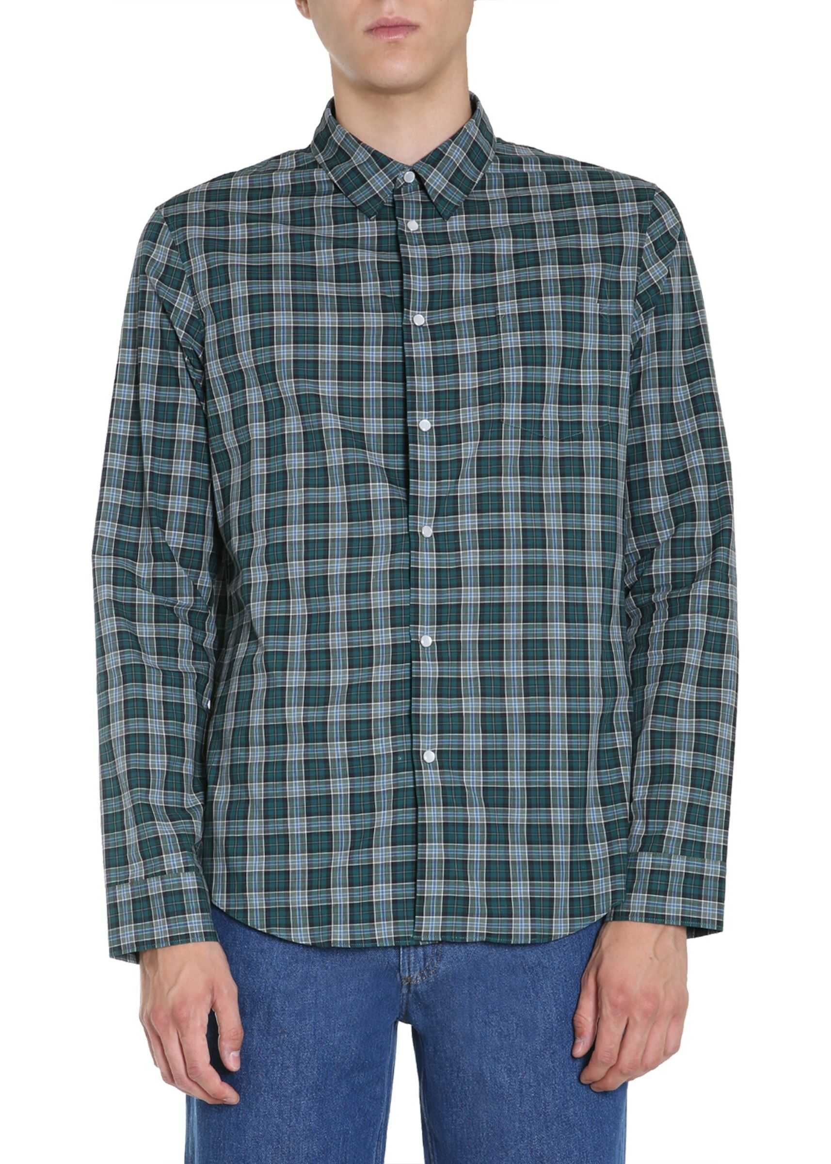 Kenzo Slim Fit Shirt GREEN imagine