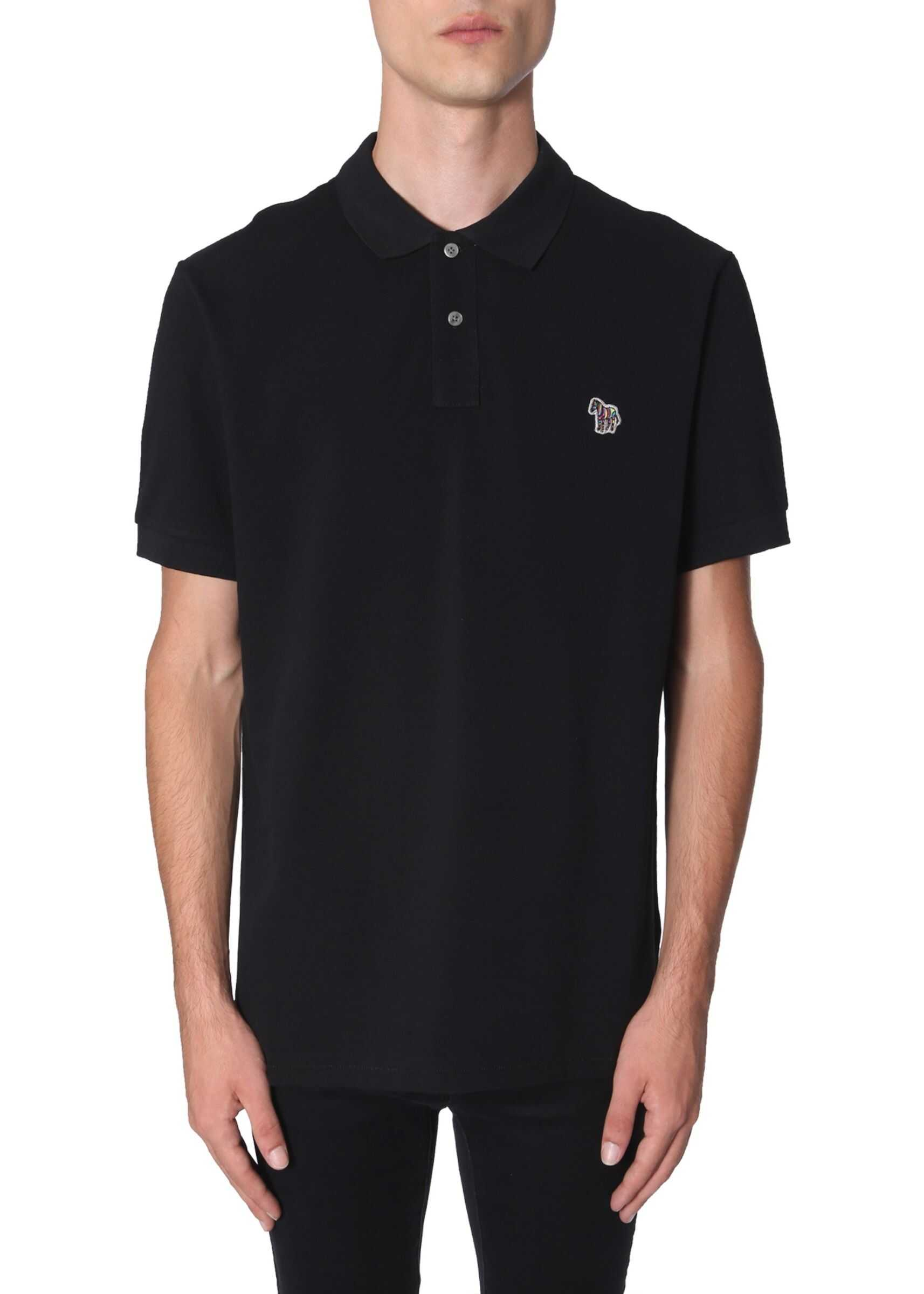 PS by Paul Smith Regular Fit Polo BLACK imagine