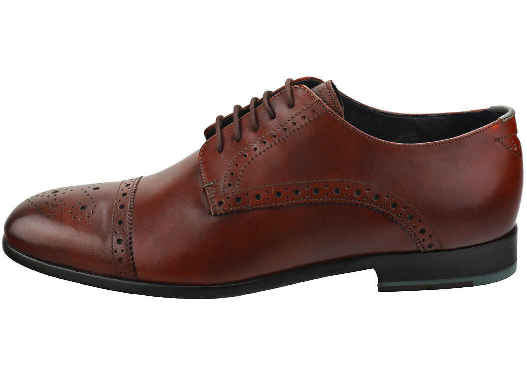 Ted Baker Brooyh Brogue Shoes In Tan Tan