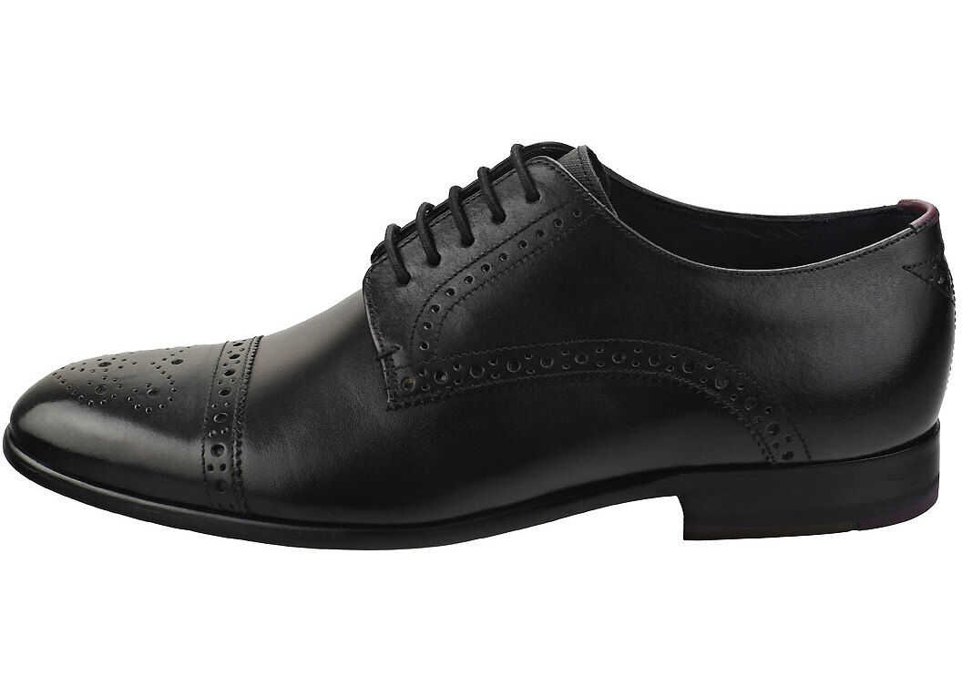 Ted Baker Brooyh Brogue Shoes In Black Black