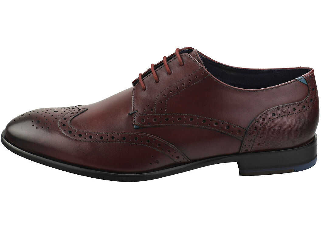 Ted Baker Trvss Brogue Shoes In Dark Red Red
