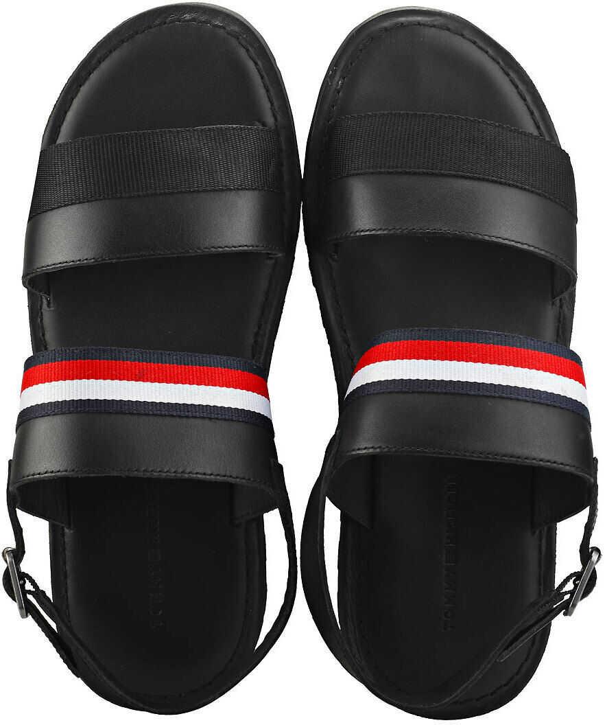 diferit cea mai nouă colecție arata bine vanzare pantofi Sandale Tommy Hilfiger Corporate Strap Walking Sandals In Black Black  Barbati - Boutique Mall Romania