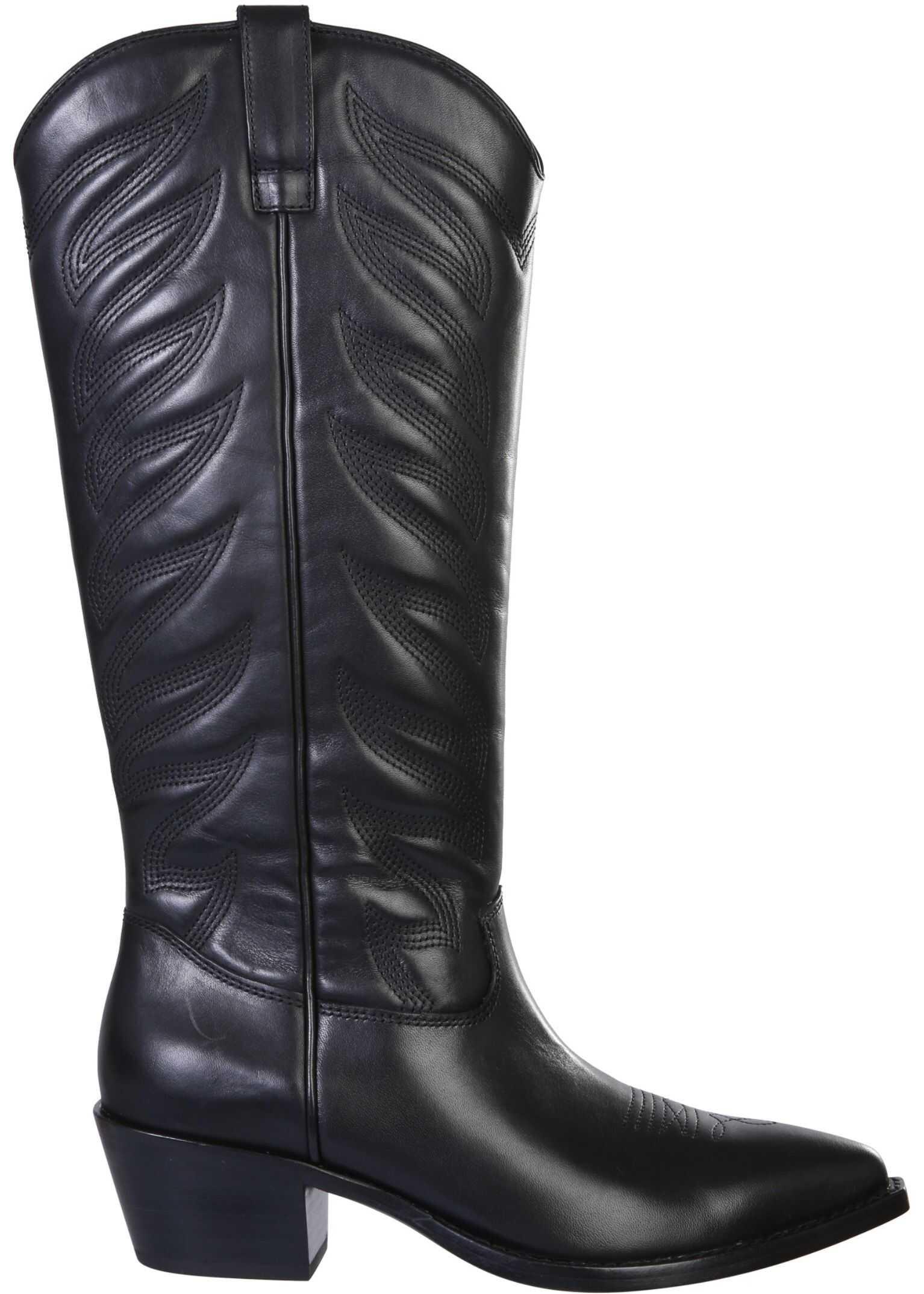 """ASH """"Delirium"""" Boots DELIRIUM04_MUSTANGBLACK BLACK imagine b-mall.ro"""