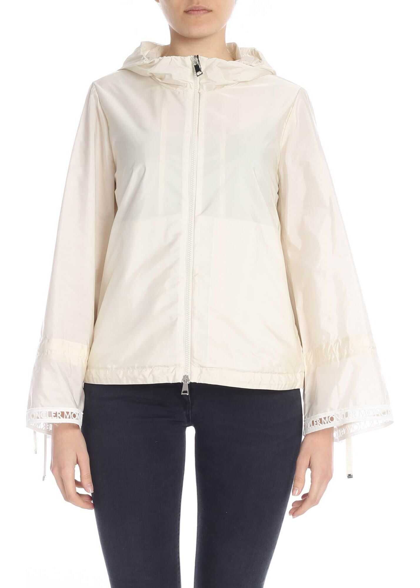 Moncler Addis Jacket In Cream Color* Pink