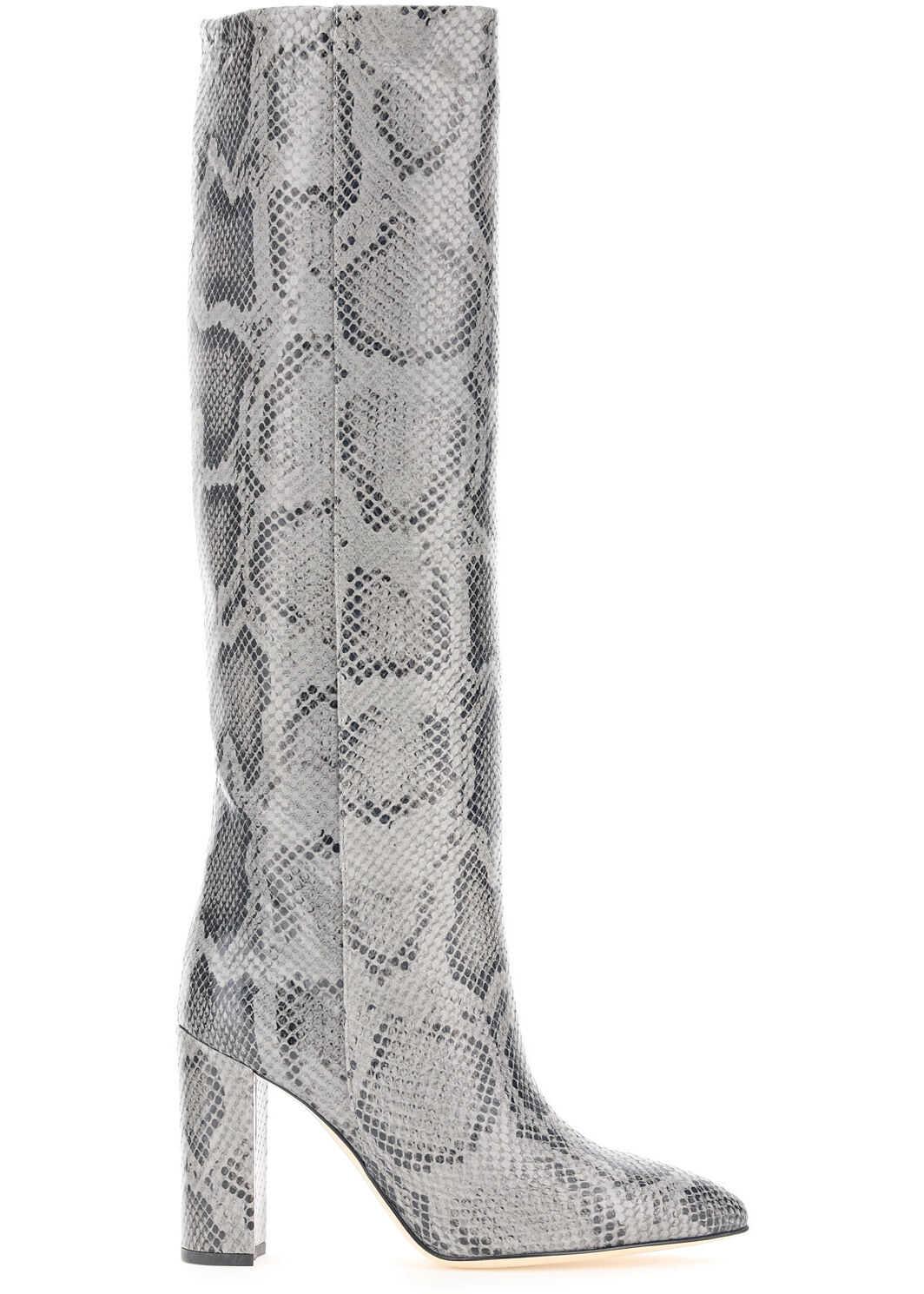 Paris Texas Python-Print Boots PX120 XPMBB GRIGIO imagine b-mall.ro