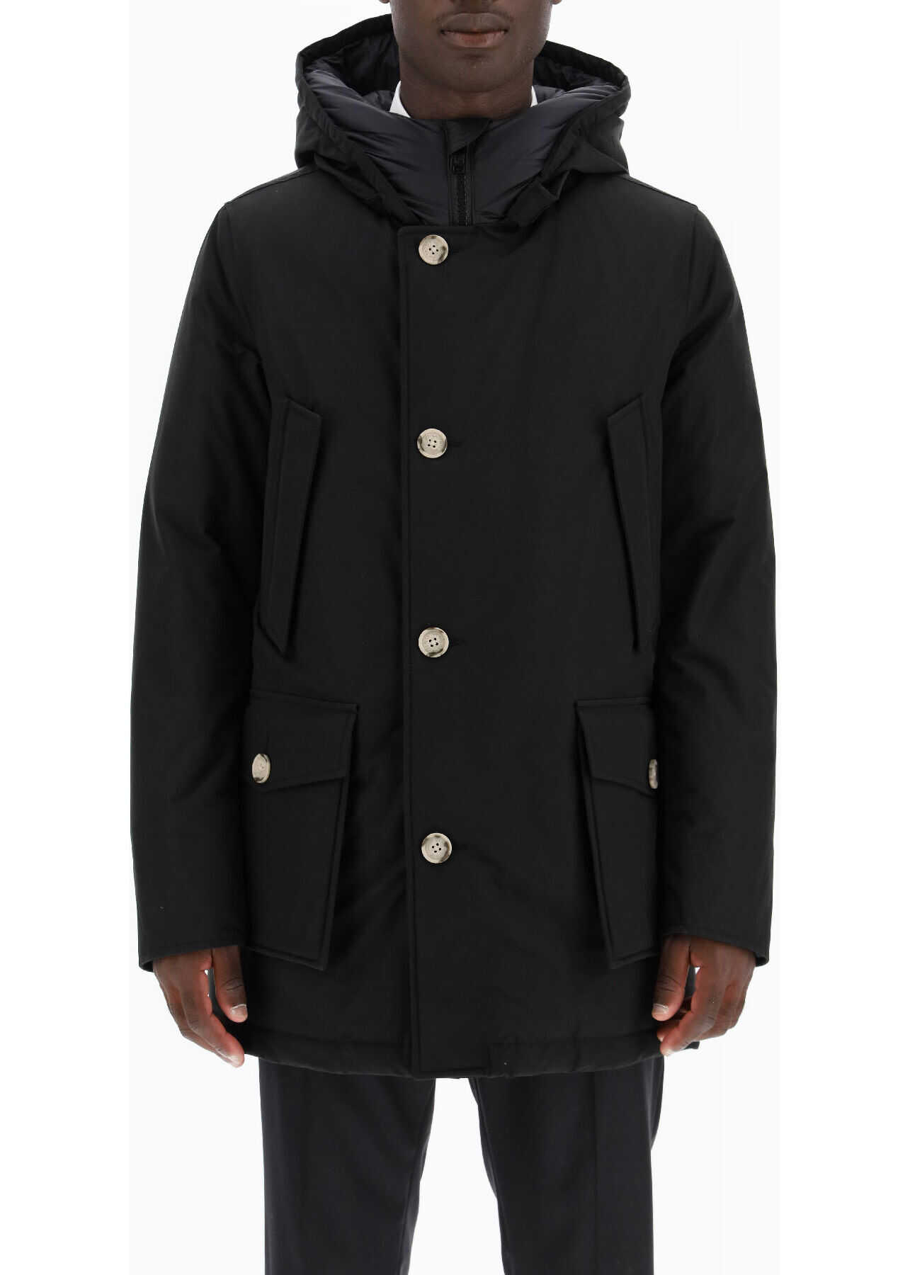 Woolrich Artic Hooded Parka NEW BLACK imagine