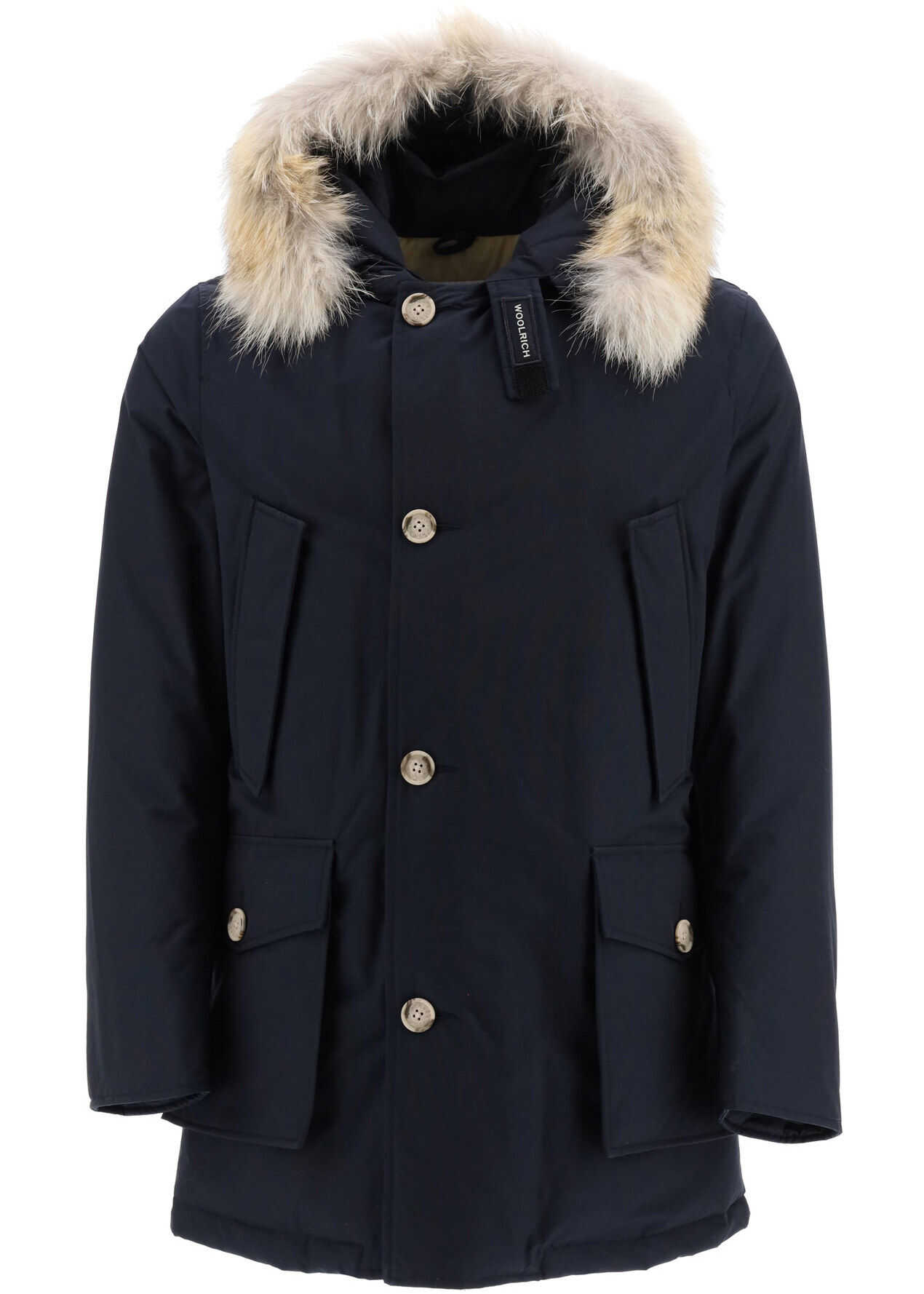 Woolrich Arctic Parka With Coyote Fur MELTON BLUE imagine
