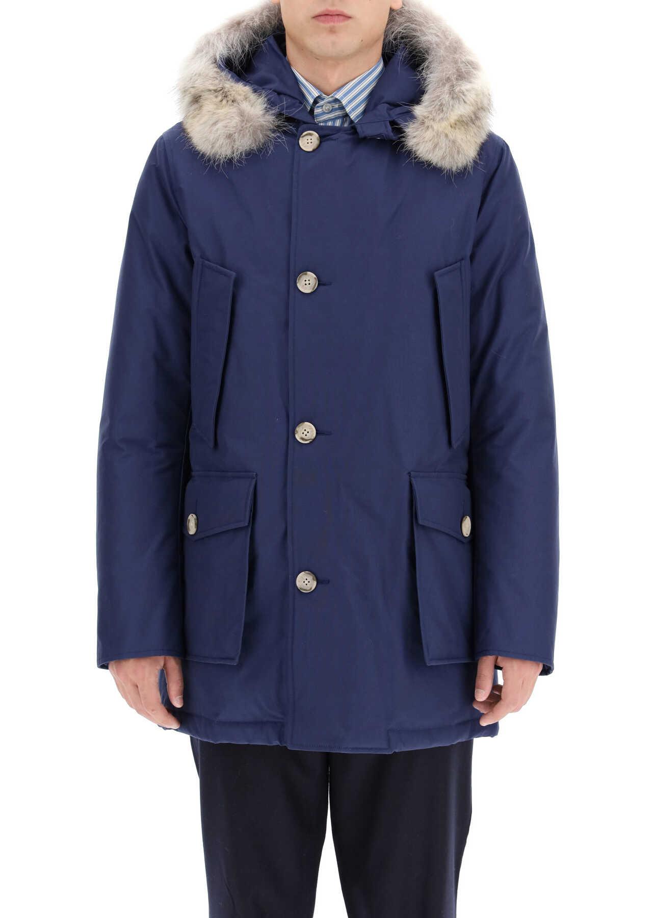 Woolrich Arctic Parka With Coyote Fur BLUE IRIS imagine