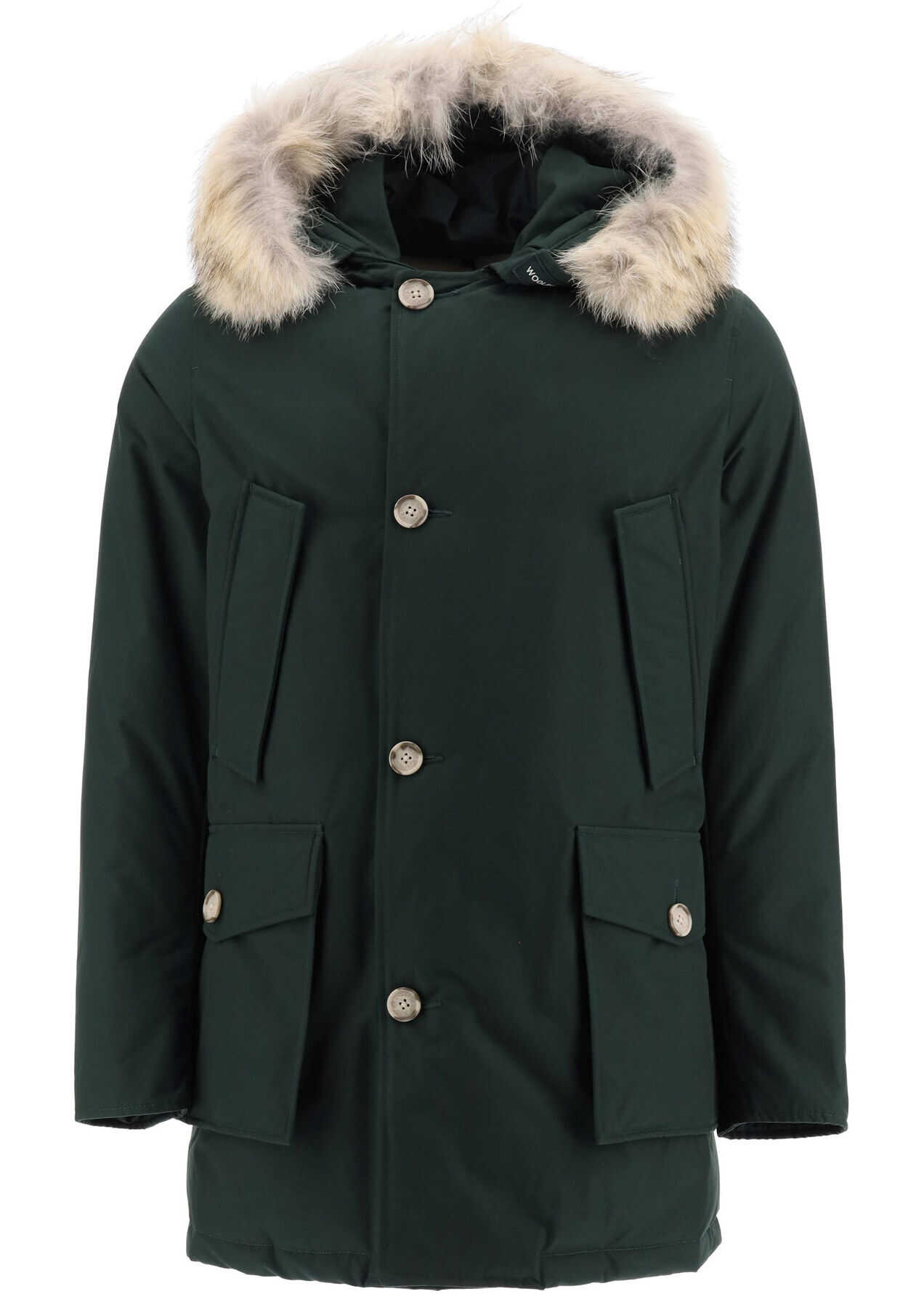 Woolrich Arctic Parka With Coyote Fur DARK HOLLY GREEN imagine