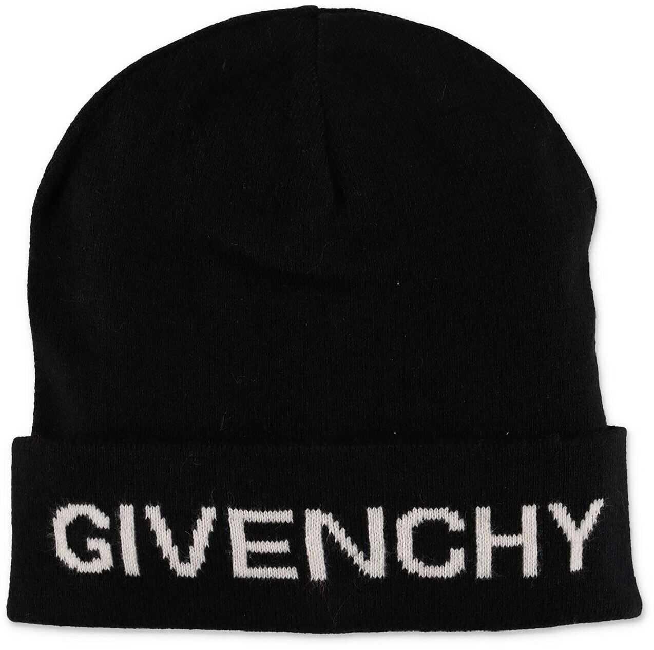 Givenchy Black Beanie With Logo Black