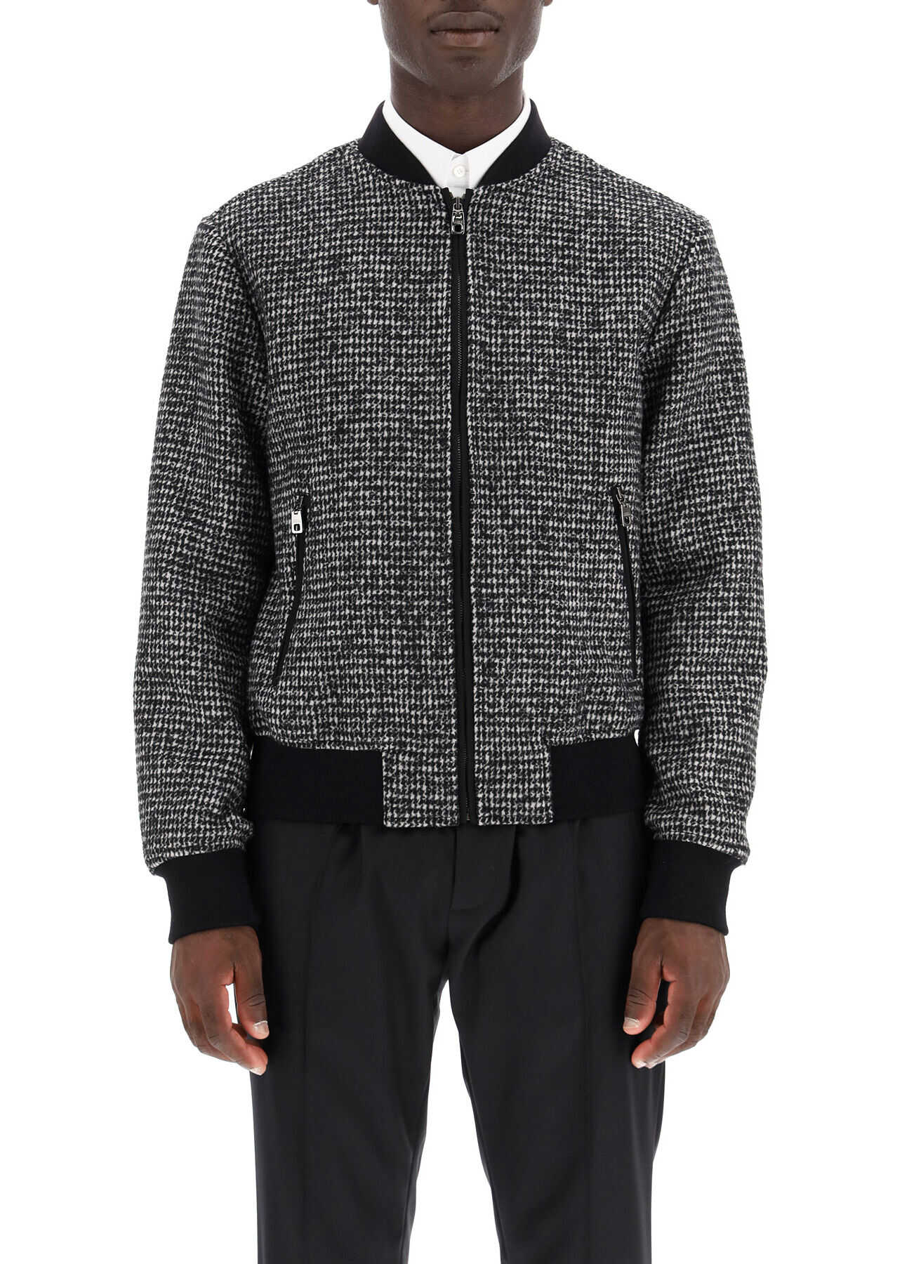 Dolce & Gabbana Micro Houndstooth Bomber Jacket G9PD5T FMMF7 FANTASIA NON STAMPA image0